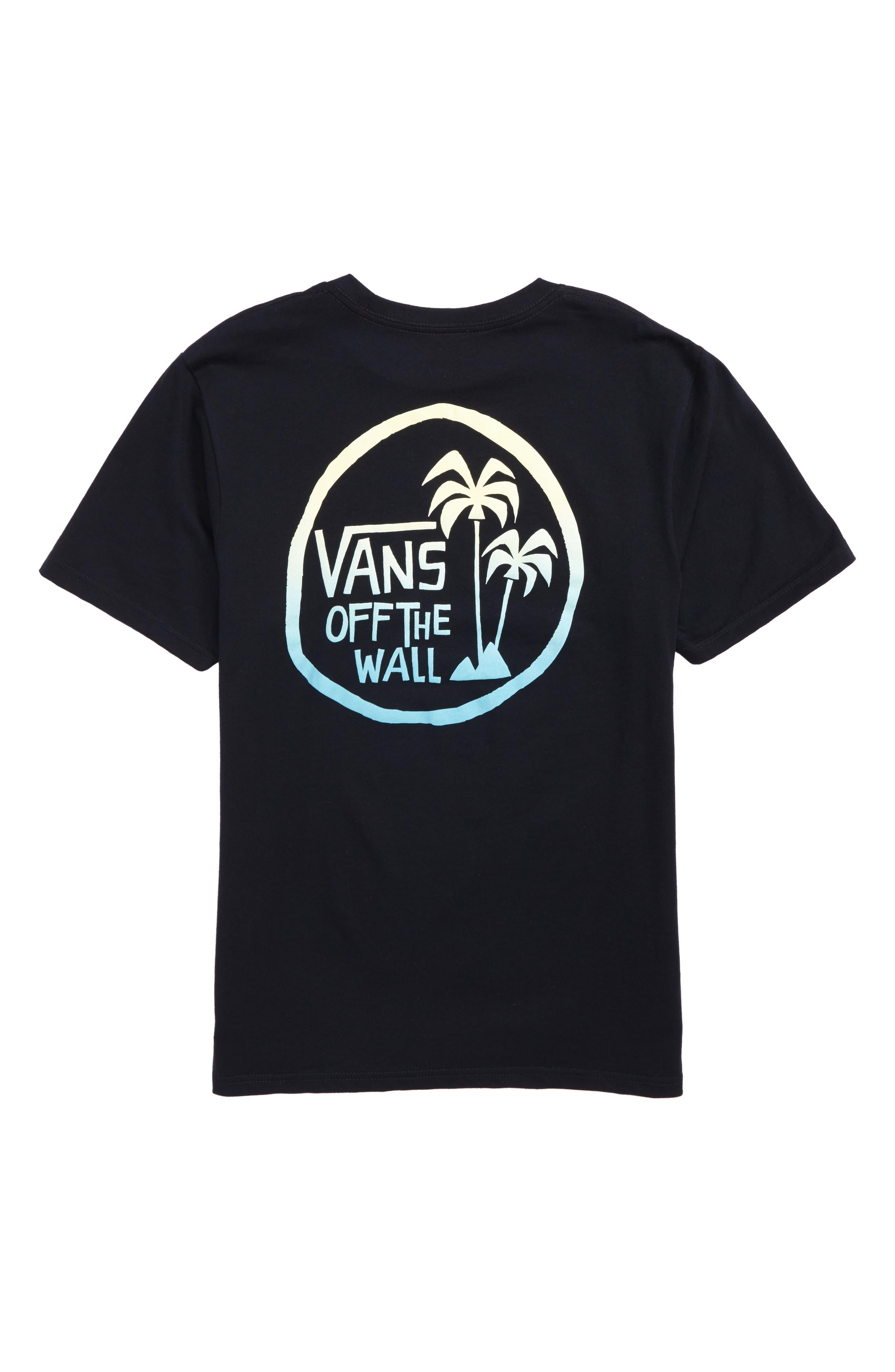 Yusuke Palm Graphic T-Shirt,                             Alternate thumbnail 3, color,                             Black