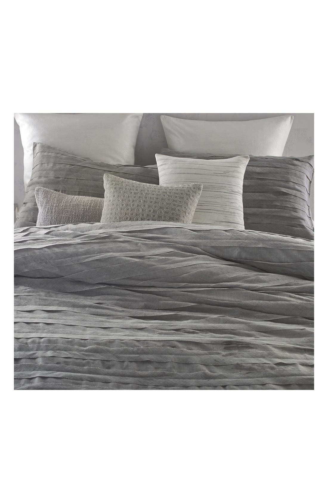 'Loft Stripe' Duvet Cover,                             Alternate thumbnail 4, color,                             Grey