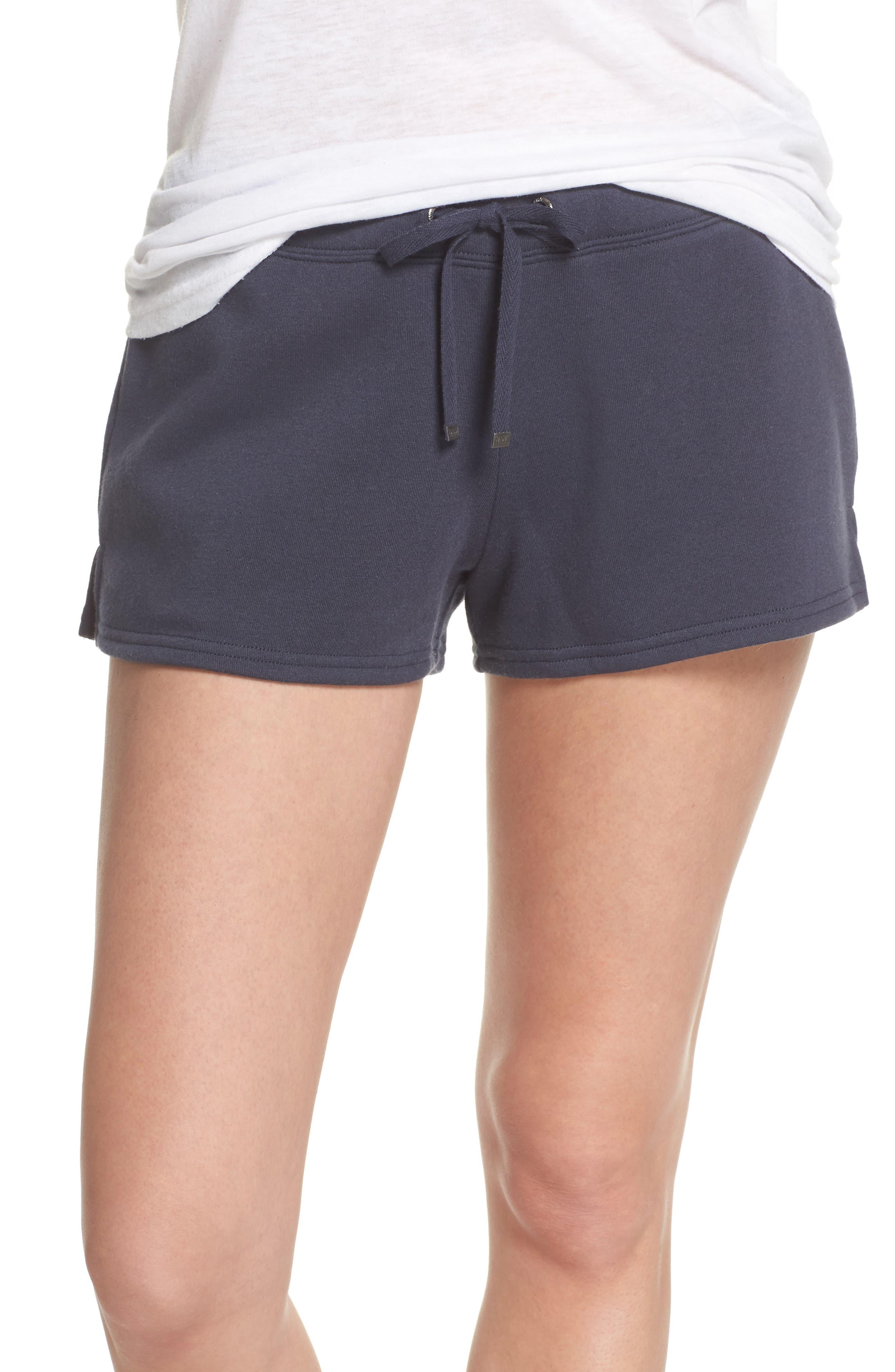 Take It Easy Lounge Shorts,                             Main thumbnail 1, color,                             Navy Blue