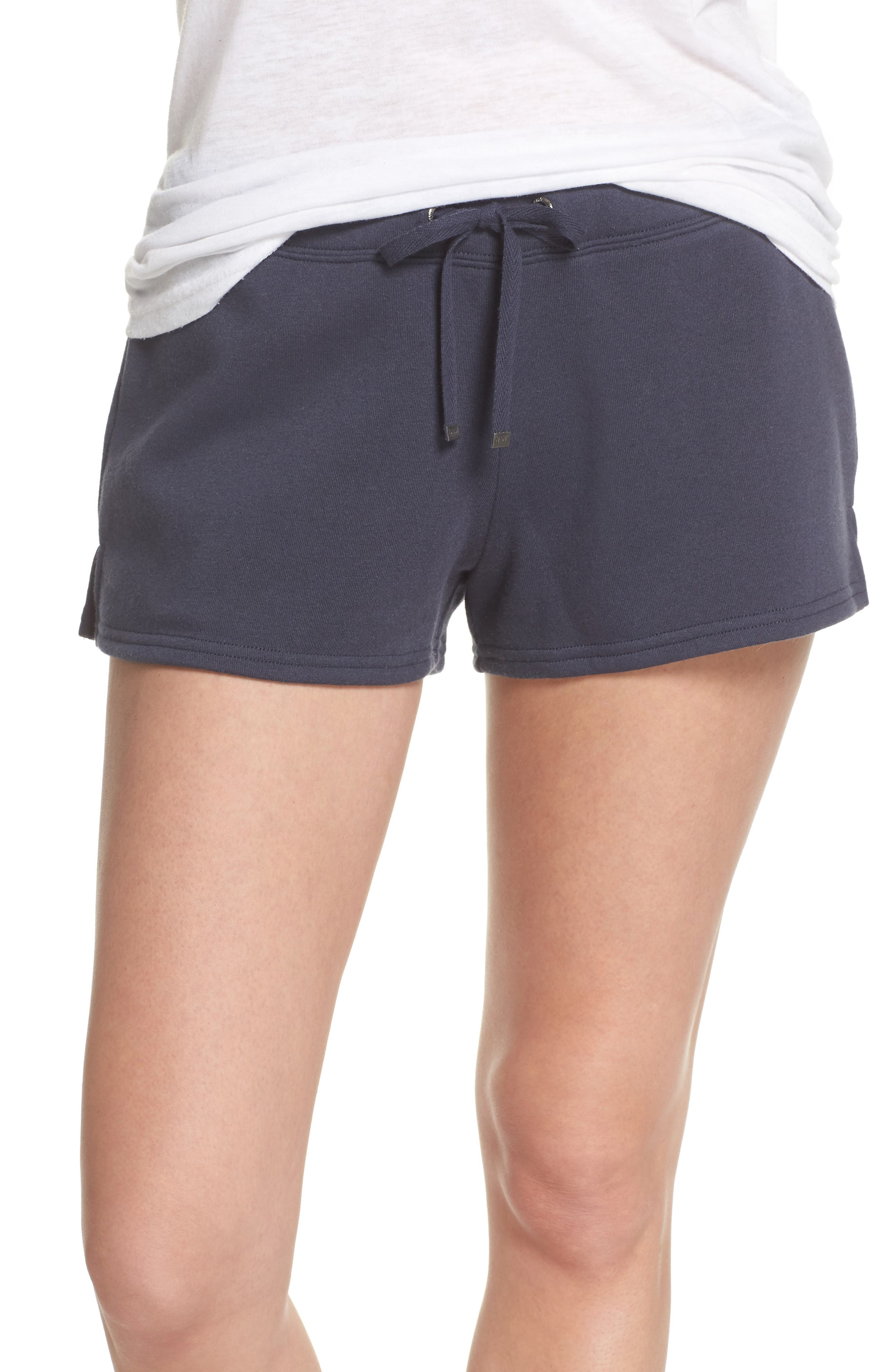 Take It Easy Lounge Shorts,                         Main,                         color, Navy Blue