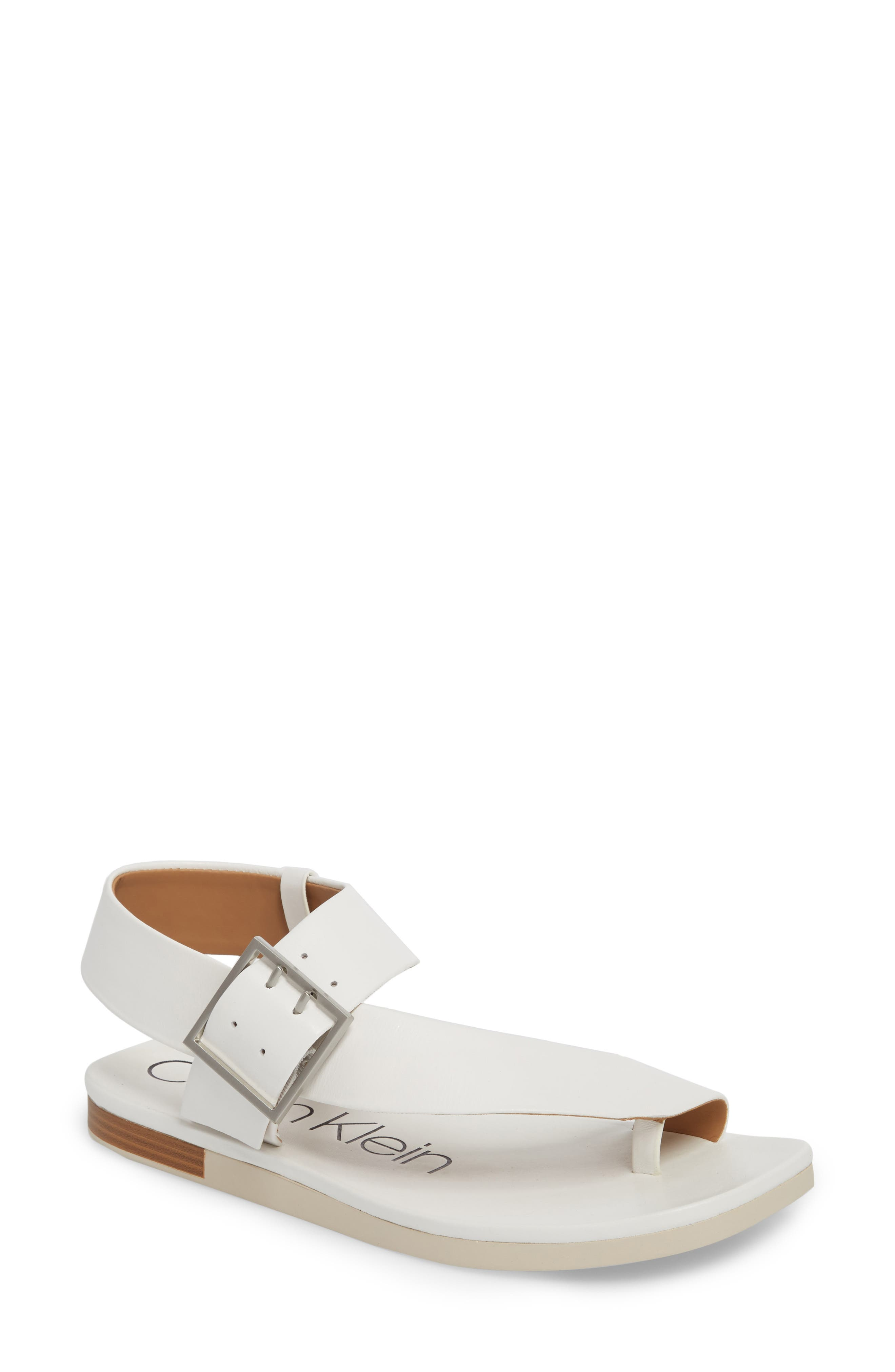 Rivita Sandal,                         Main,                         color, Platinum White Leather
