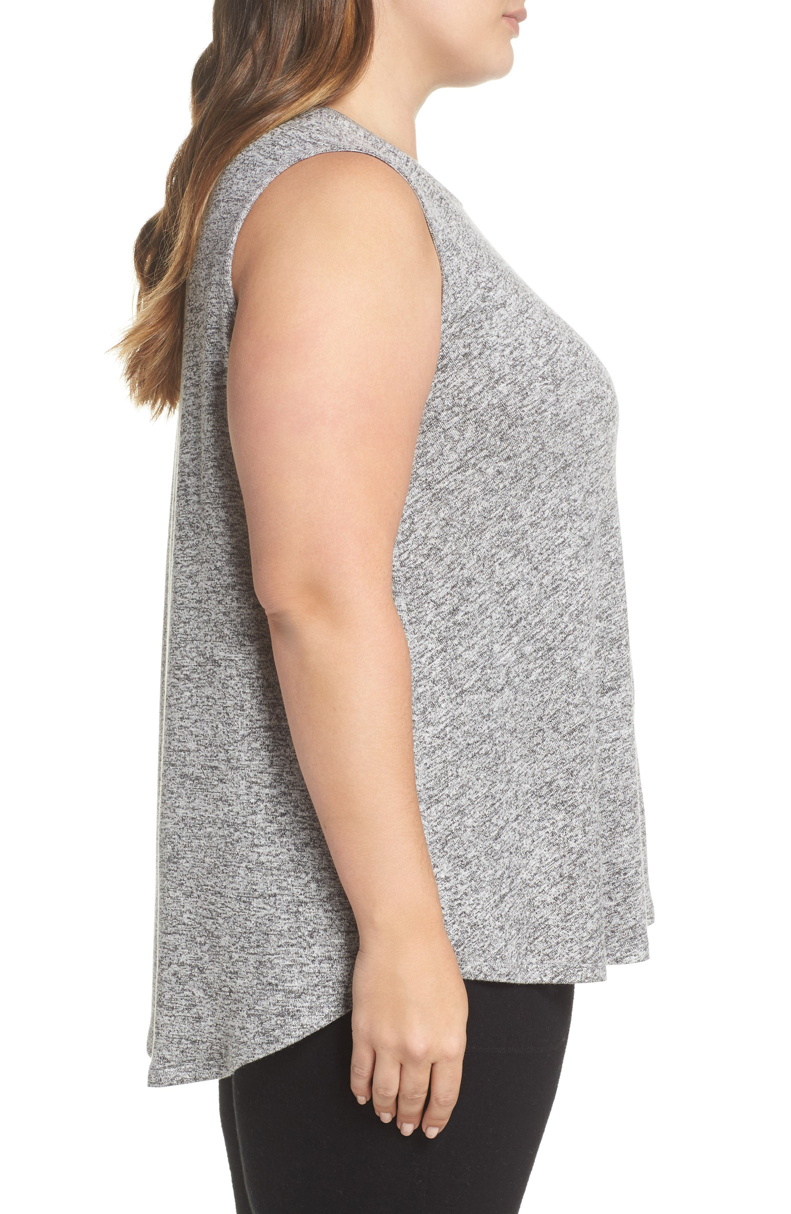 x Living in Yellow Millie Muscle Tank,                             Alternate thumbnail 4, color,                             Heather Grey Marled
