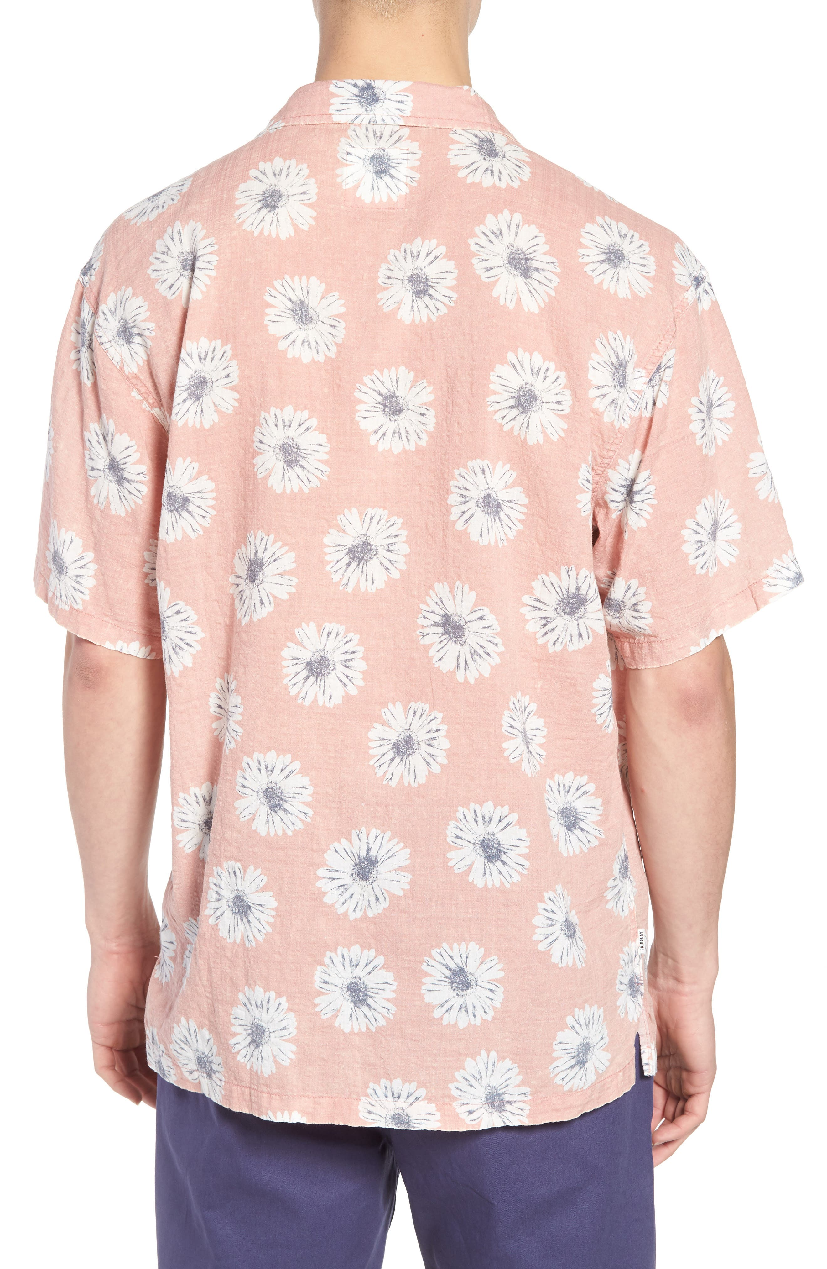 Ferris Woven Shirt,                             Alternate thumbnail 2, color,                             Pink