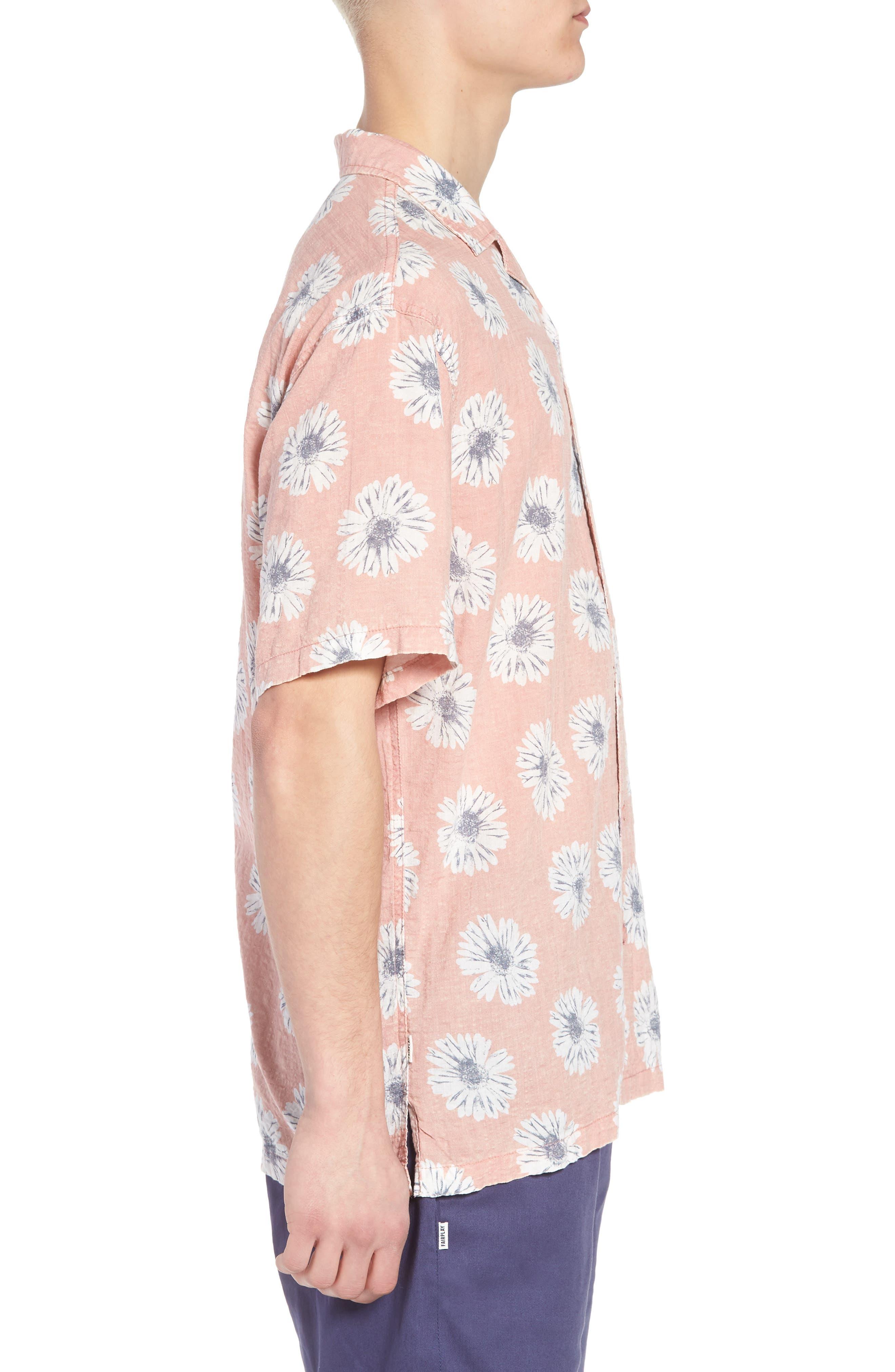 Ferris Woven Shirt,                             Alternate thumbnail 3, color,                             Pink
