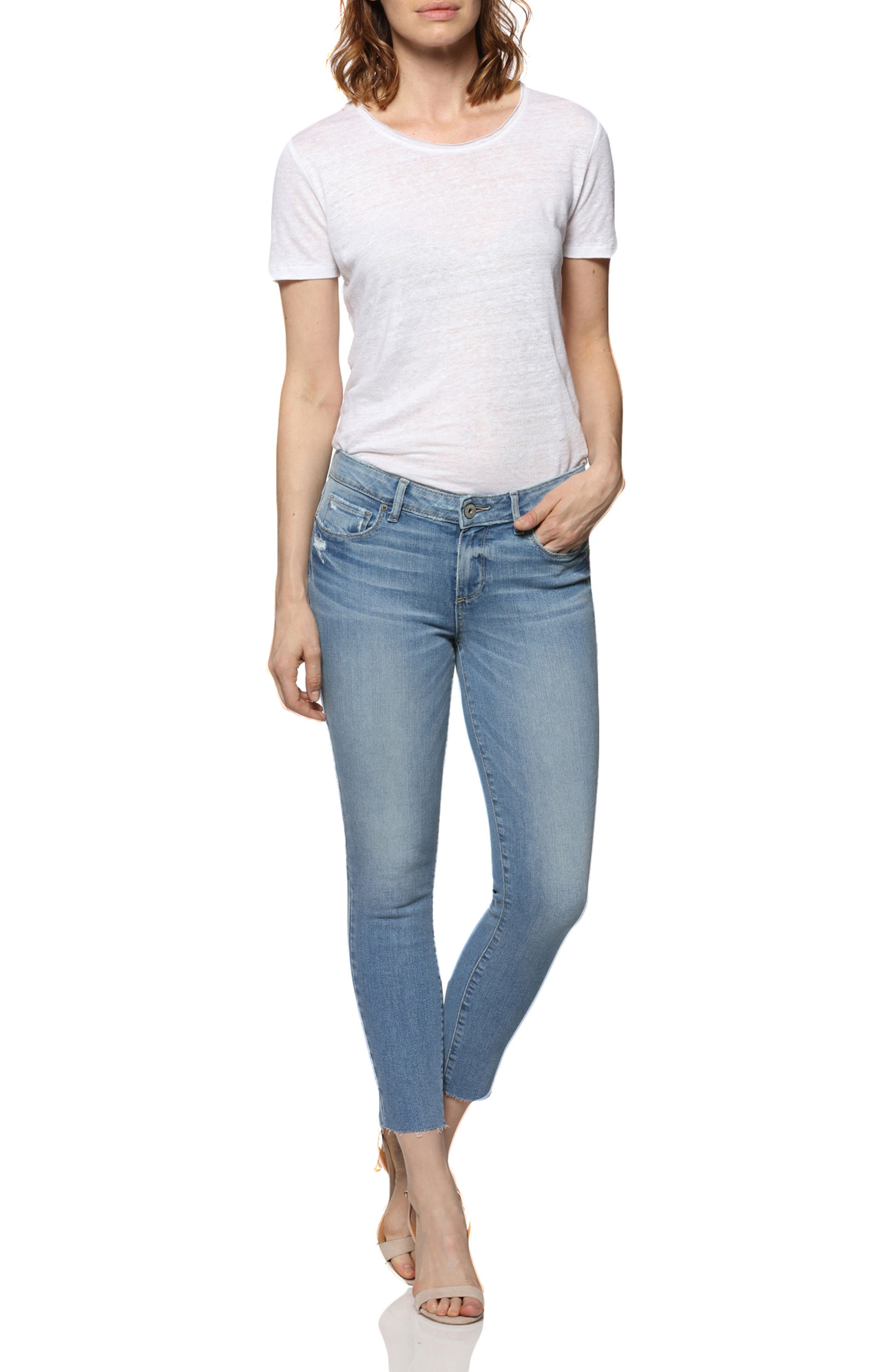 Transcend - Verdugo Raw Hem Crop Skinny Jeans,                             Alternate thumbnail 3, color,                             Venice