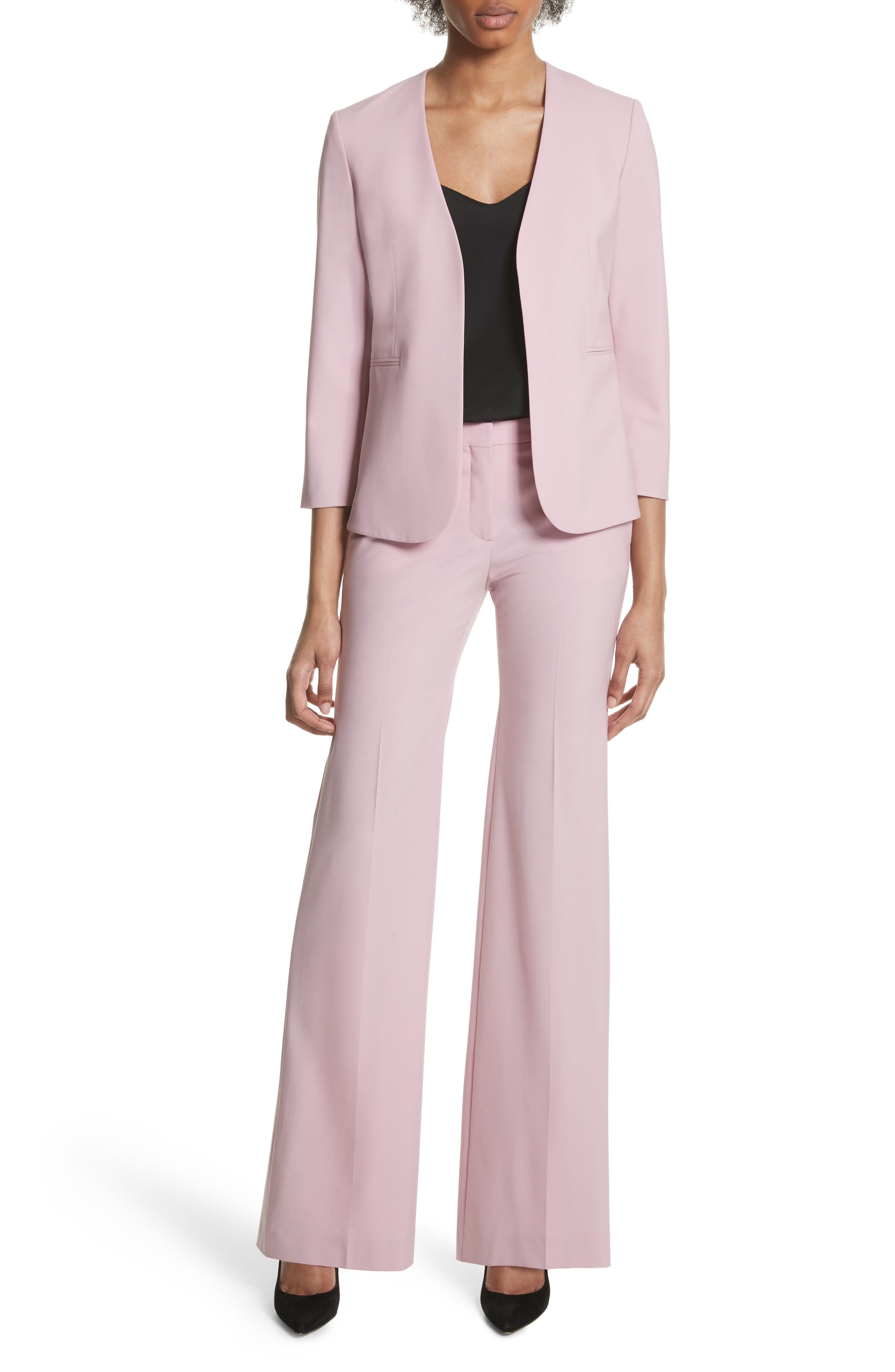 Lindrayia B Good Wool Suit Jacket,                             Alternate thumbnail 5, color,                             Berry Tint