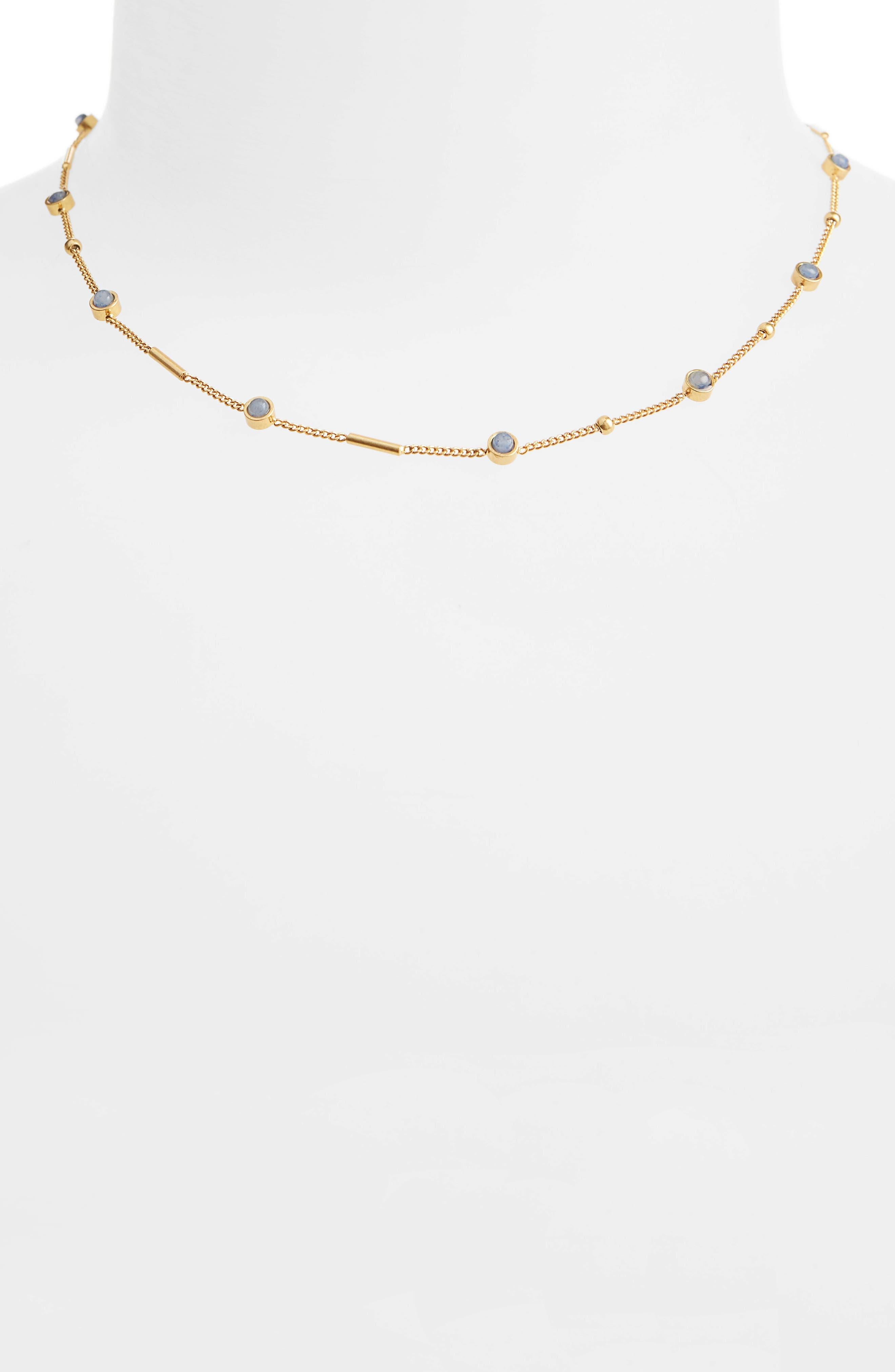 Delicate Stone Necklace,                         Main,                         color, Blue Aventurine