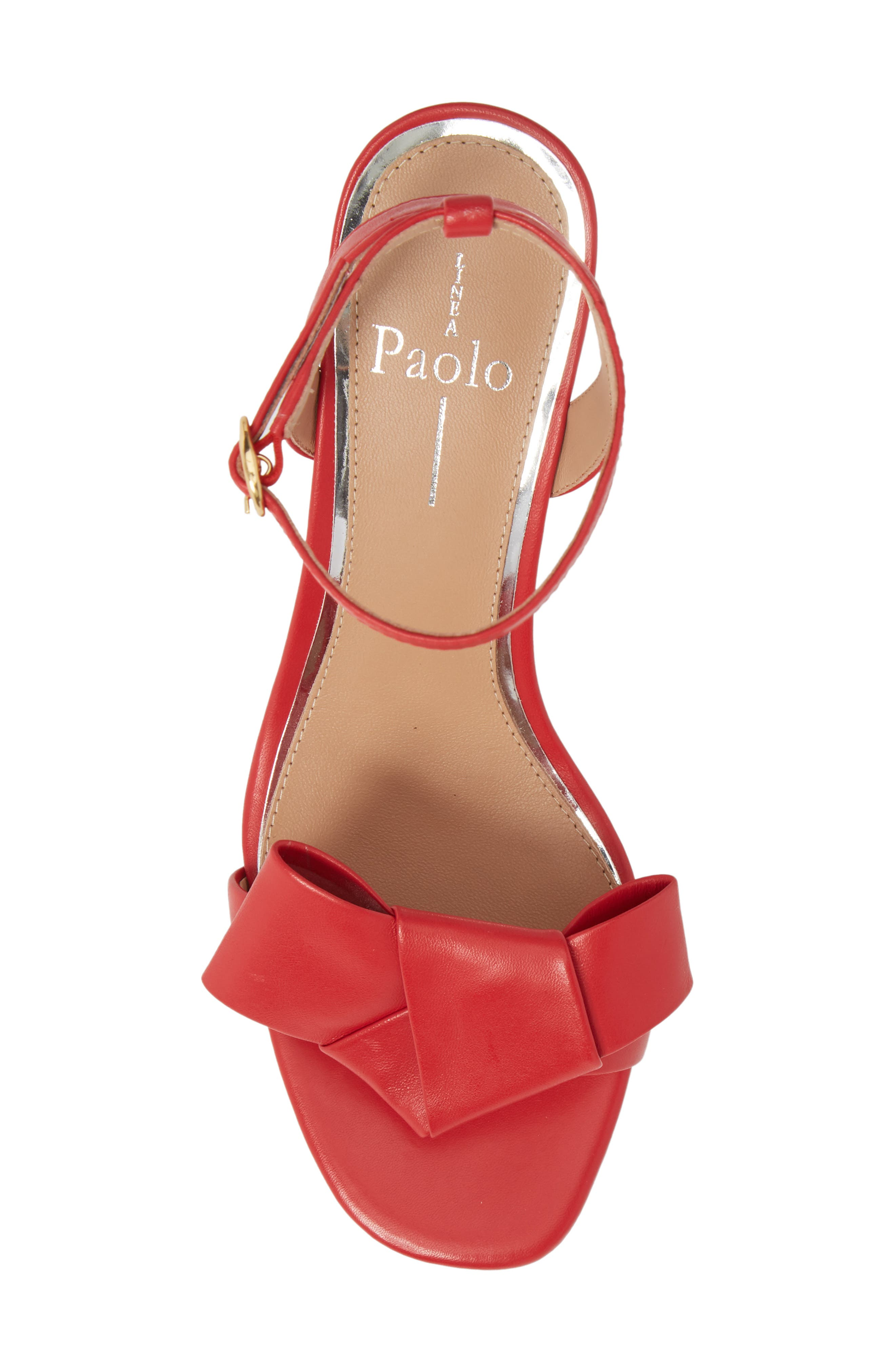 Haven Ankle Strap Sandal,                             Alternate thumbnail 5, color,                             Red Leather