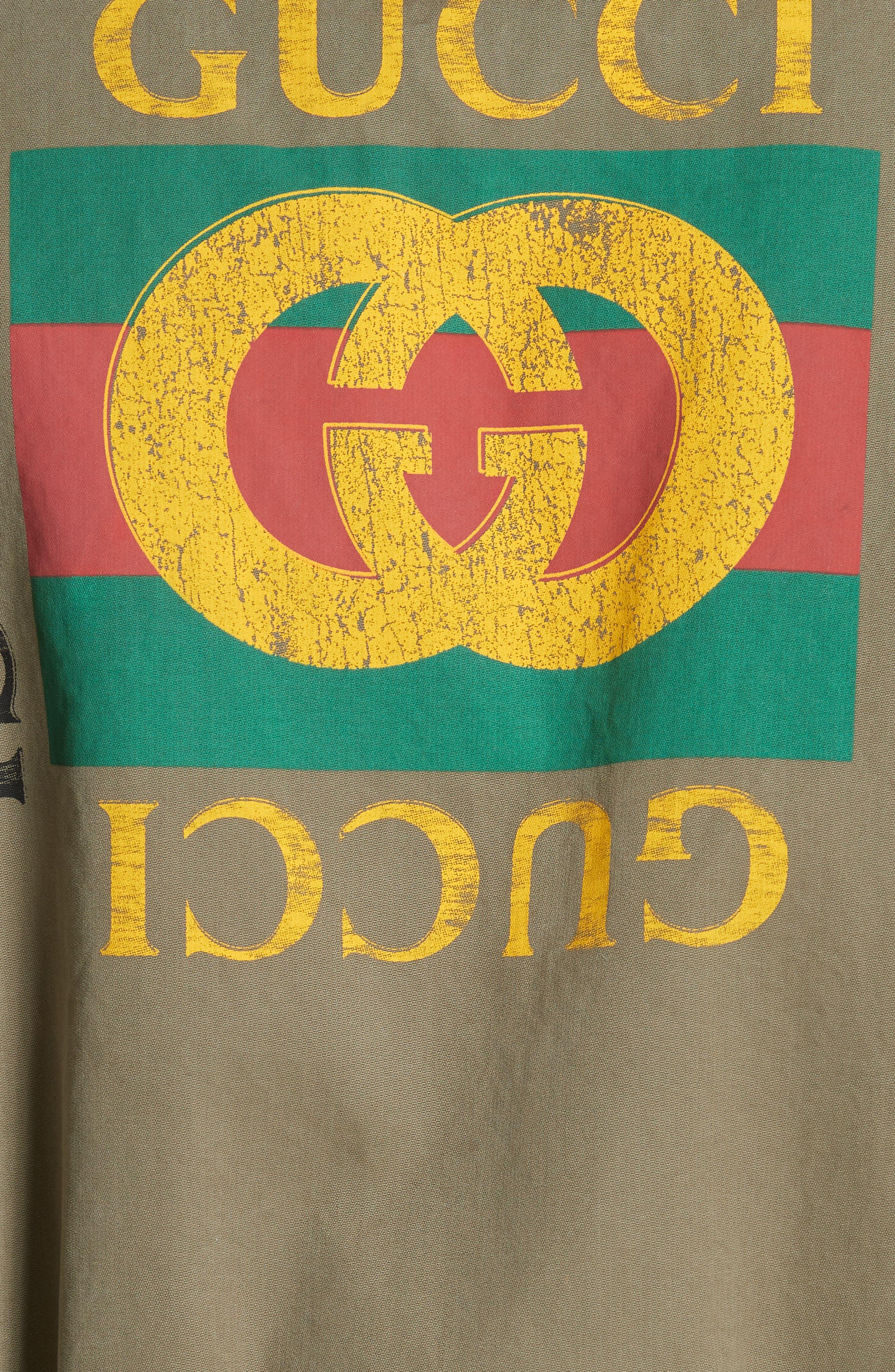 Logo Utility Jacket,                             Alternate thumbnail 5, color,                             Military Green/ Multi