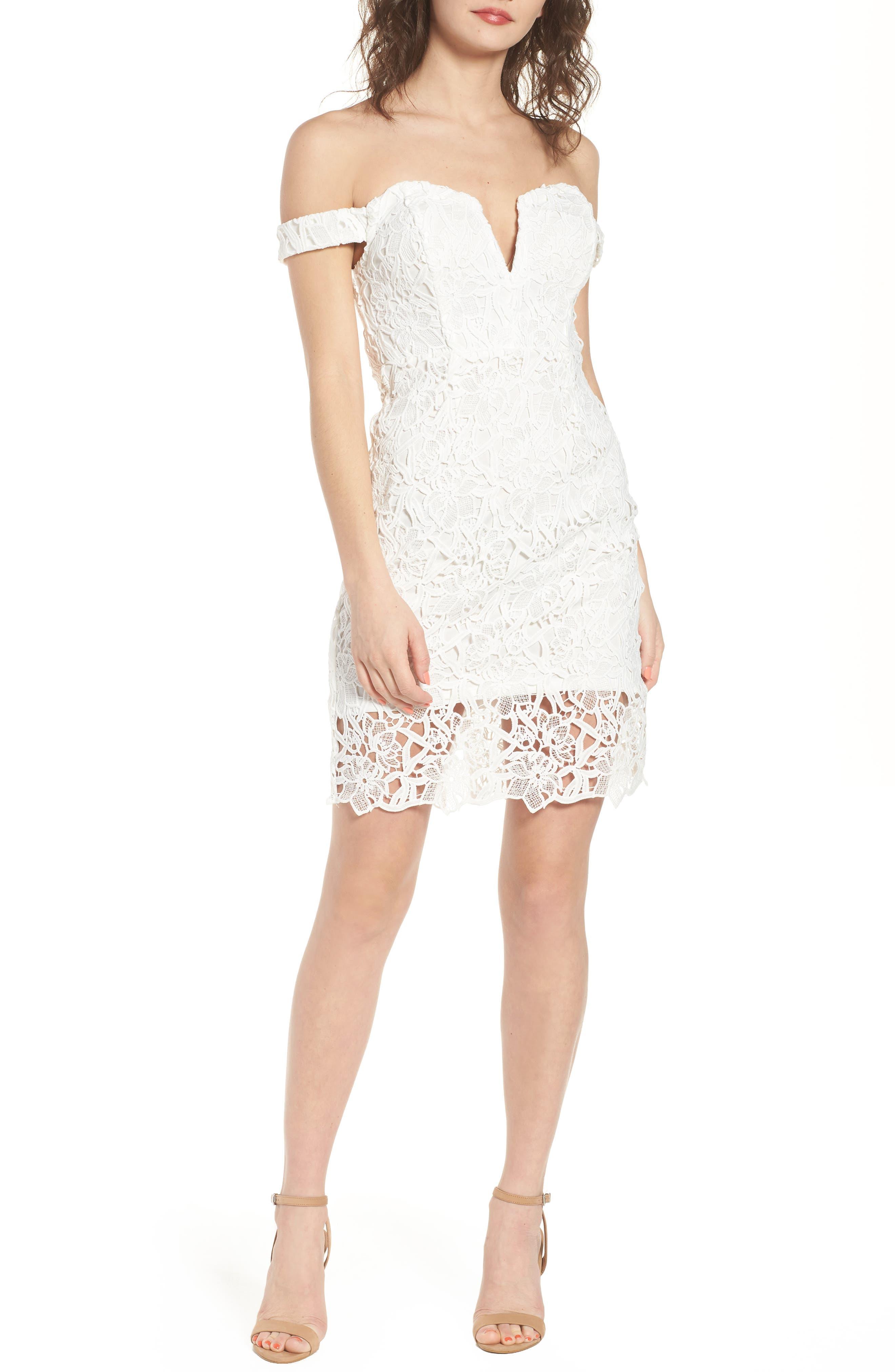 ASTR the Label Lace Body-Con Dress