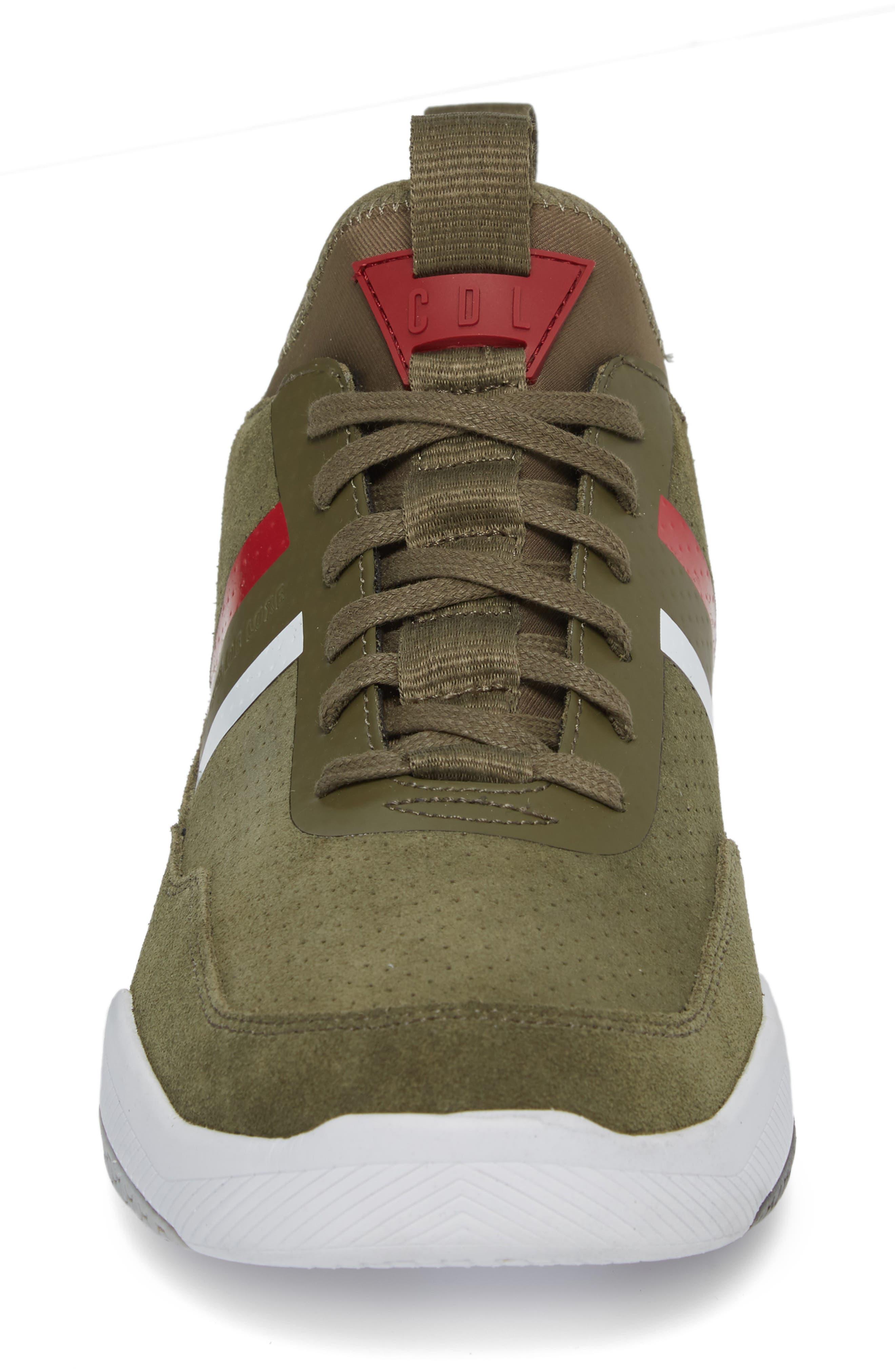 Shiro Hi Sock Fit Sneaker,                             Alternate thumbnail 4, color,                             Military Green Suede