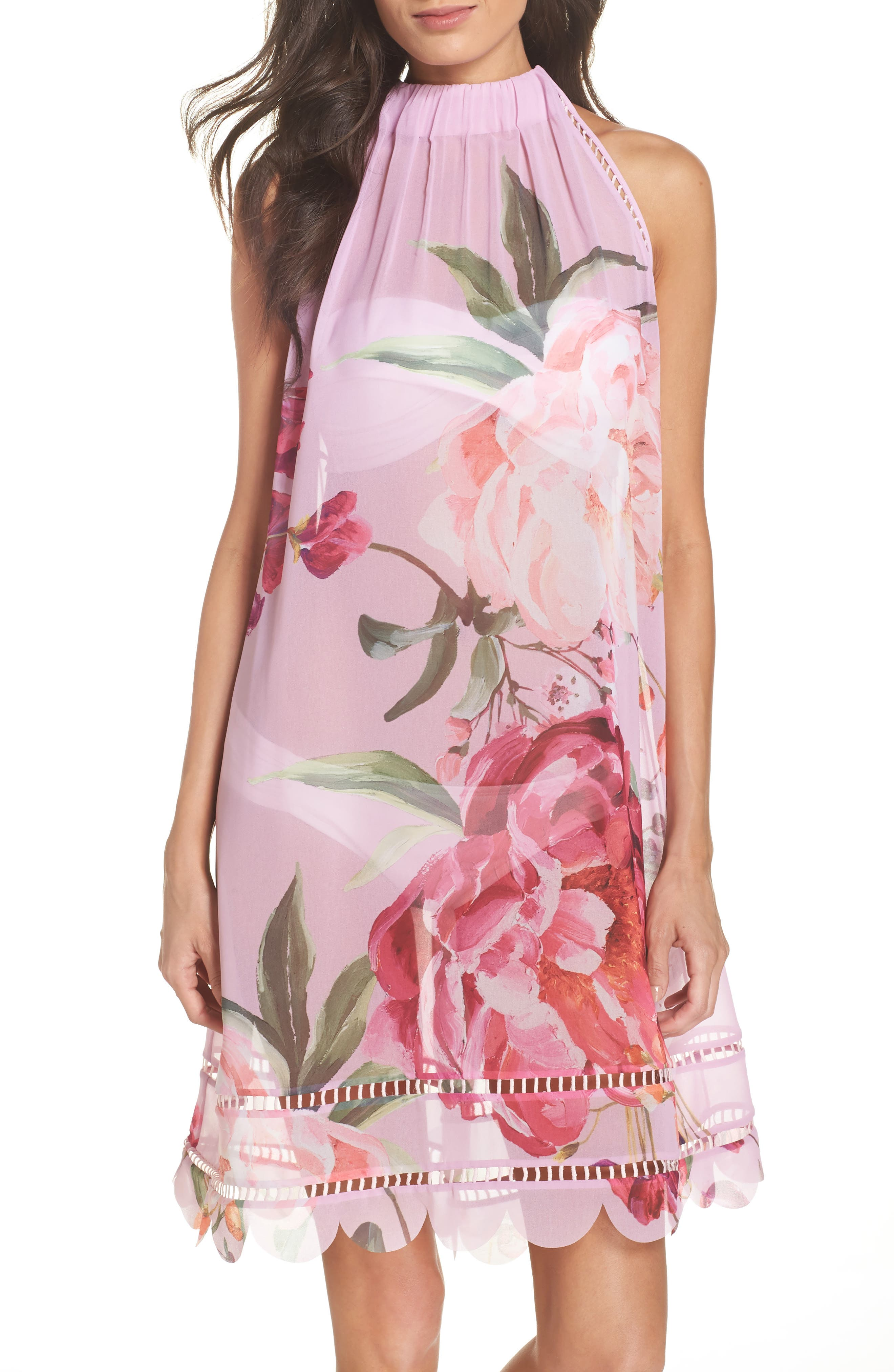 Serenity Scallop Cover-Up,                         Main,                         color, Pale Pink