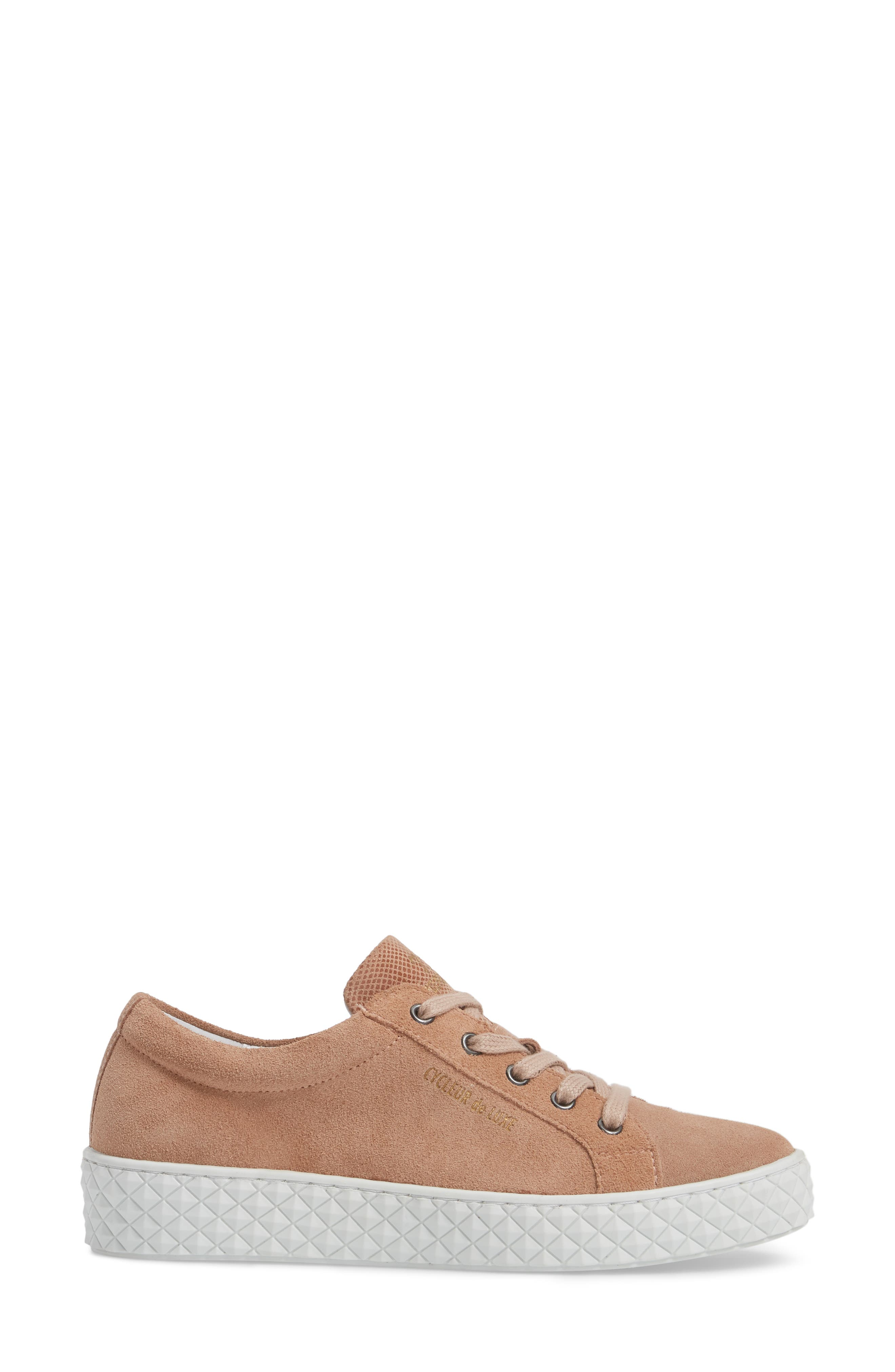Acton II Sneaker,                             Alternate thumbnail 3, color,                             Dark Cipria Suede