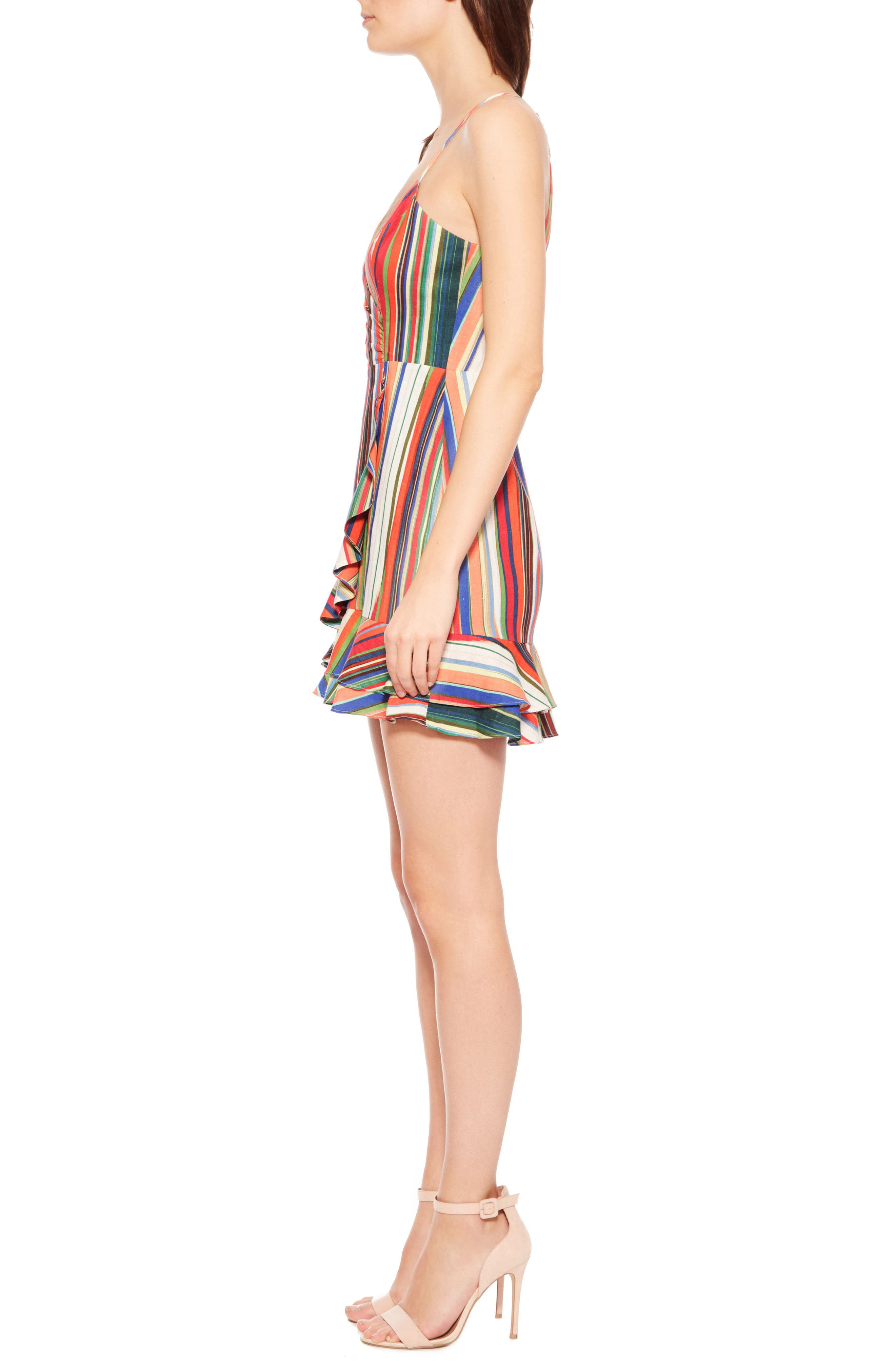 Jay Stripe Dress,                             Alternate thumbnail 4, color,                             Amalfi Stripe
