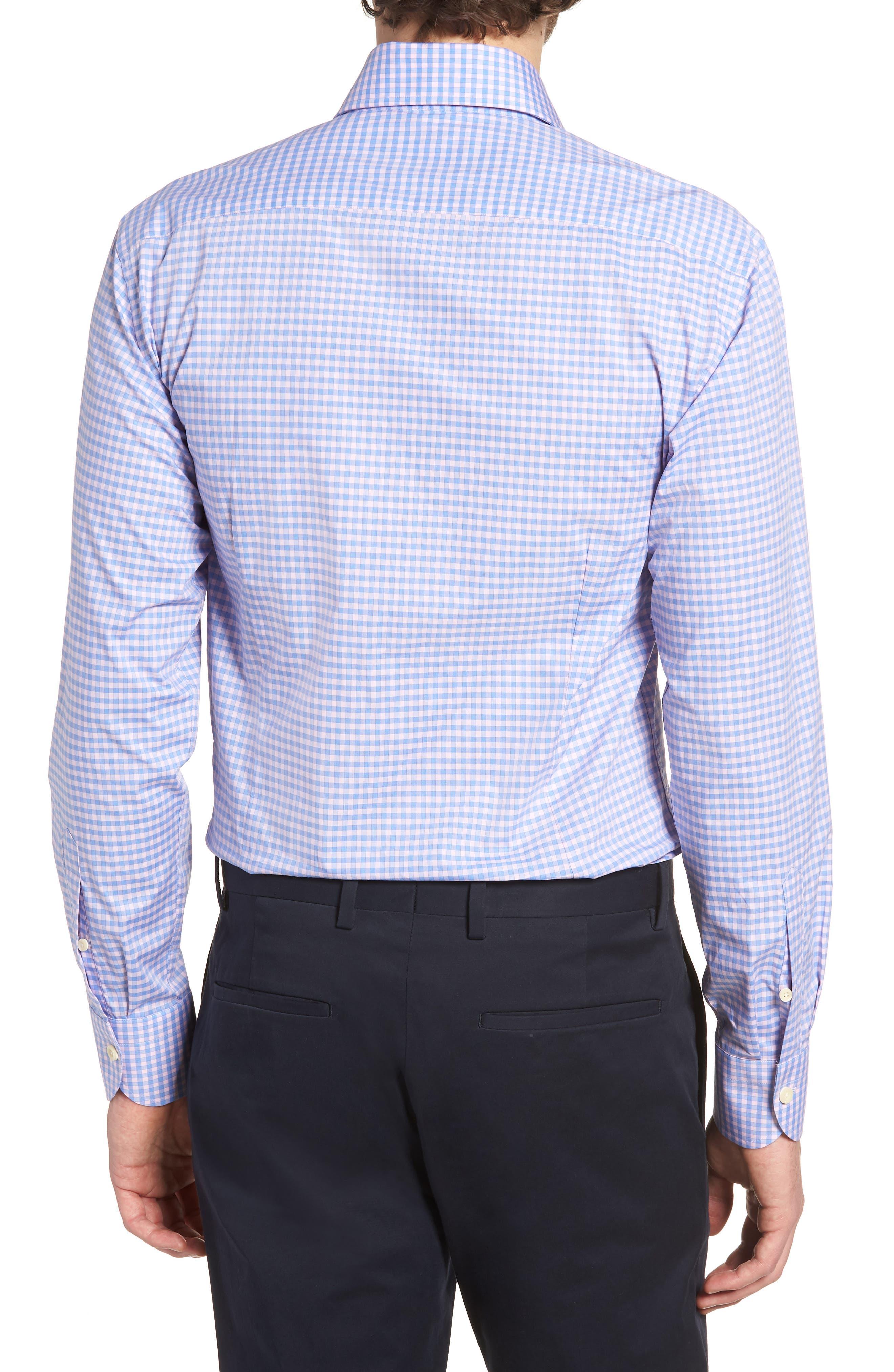 Prestwick Slim Fit Check Dress Shirt,                             Alternate thumbnail 2, color,                             Pink