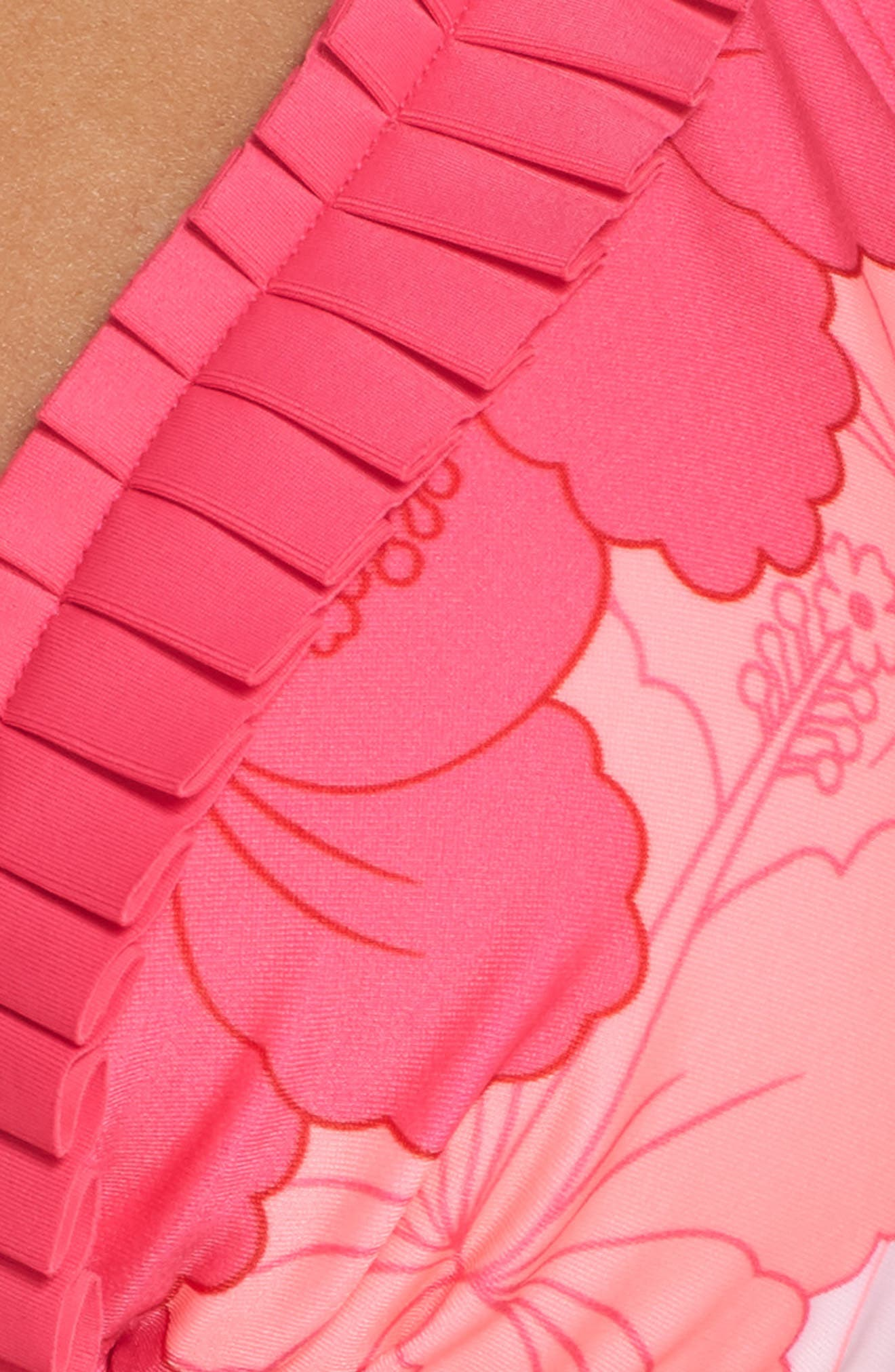 Elidii Triangle Bikini Top,                             Alternate thumbnail 8, color,                             Neon Pink