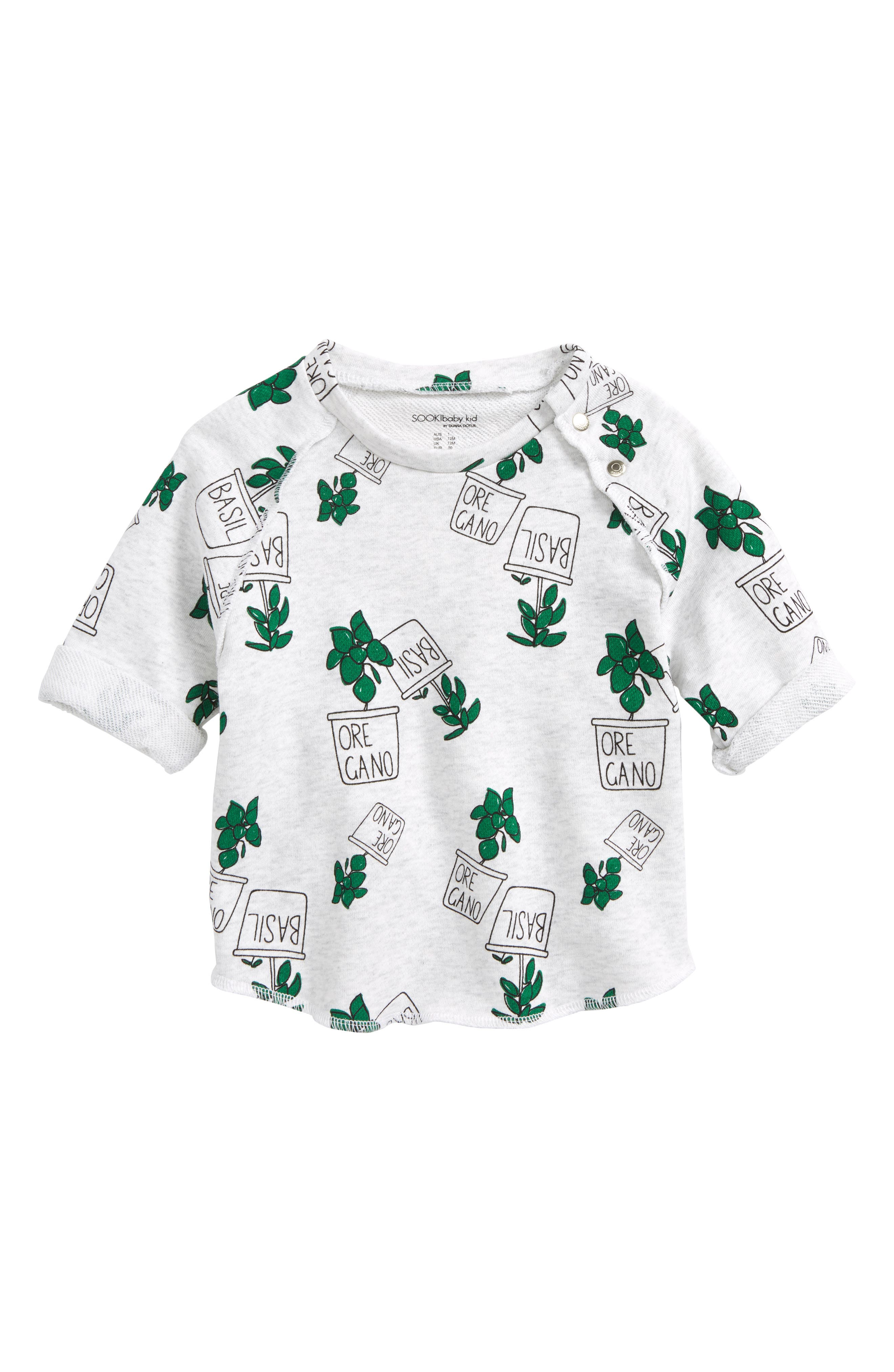 SOOKIbaby Fresh Herbs Relaxed Fit Sweatshirt (Baby & Toddler)