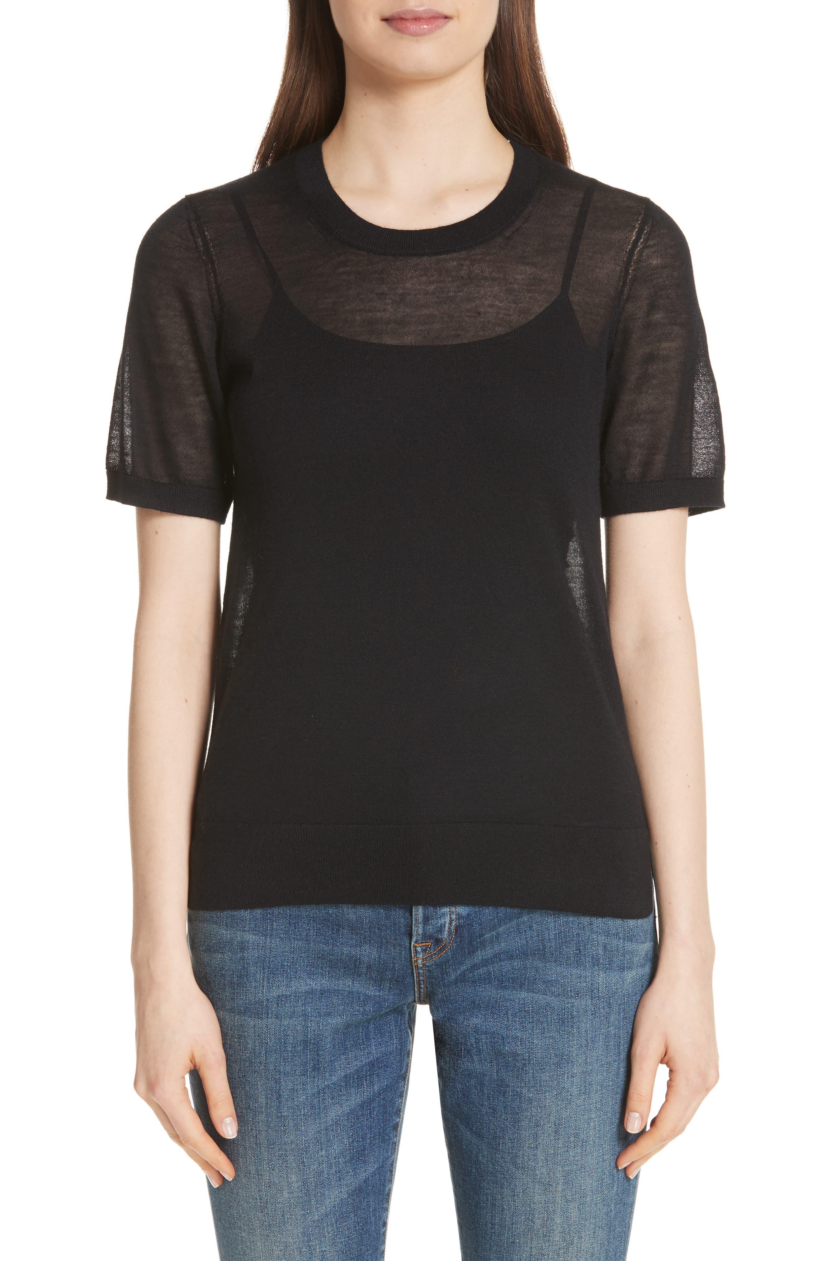 Killik Cashmere Sweater,                             Main thumbnail 1, color,                             Black
