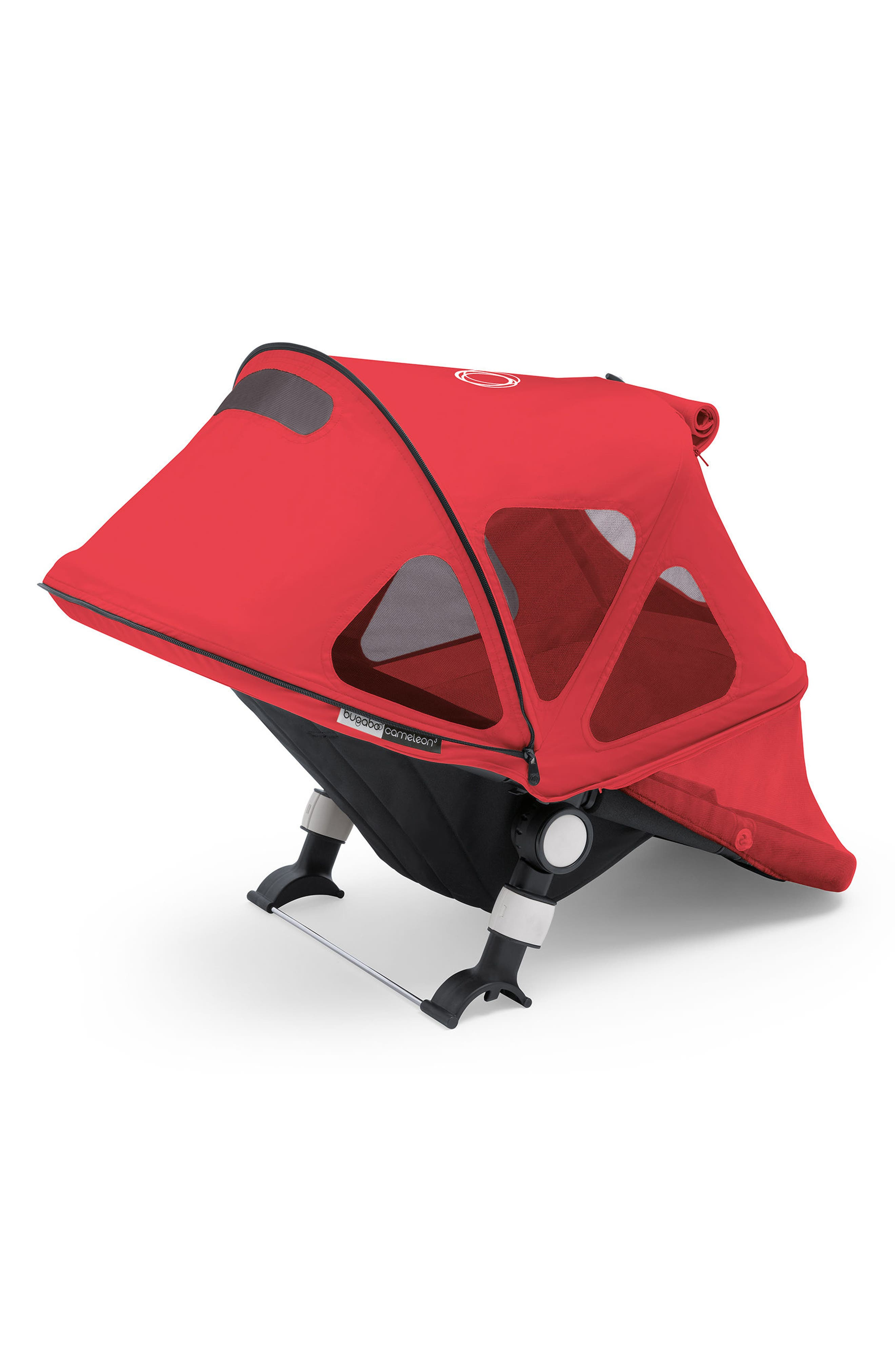 Breezy Sun Canopy for Fox & Cameleon³ Strollers,                         Main,                         color, Neon Red