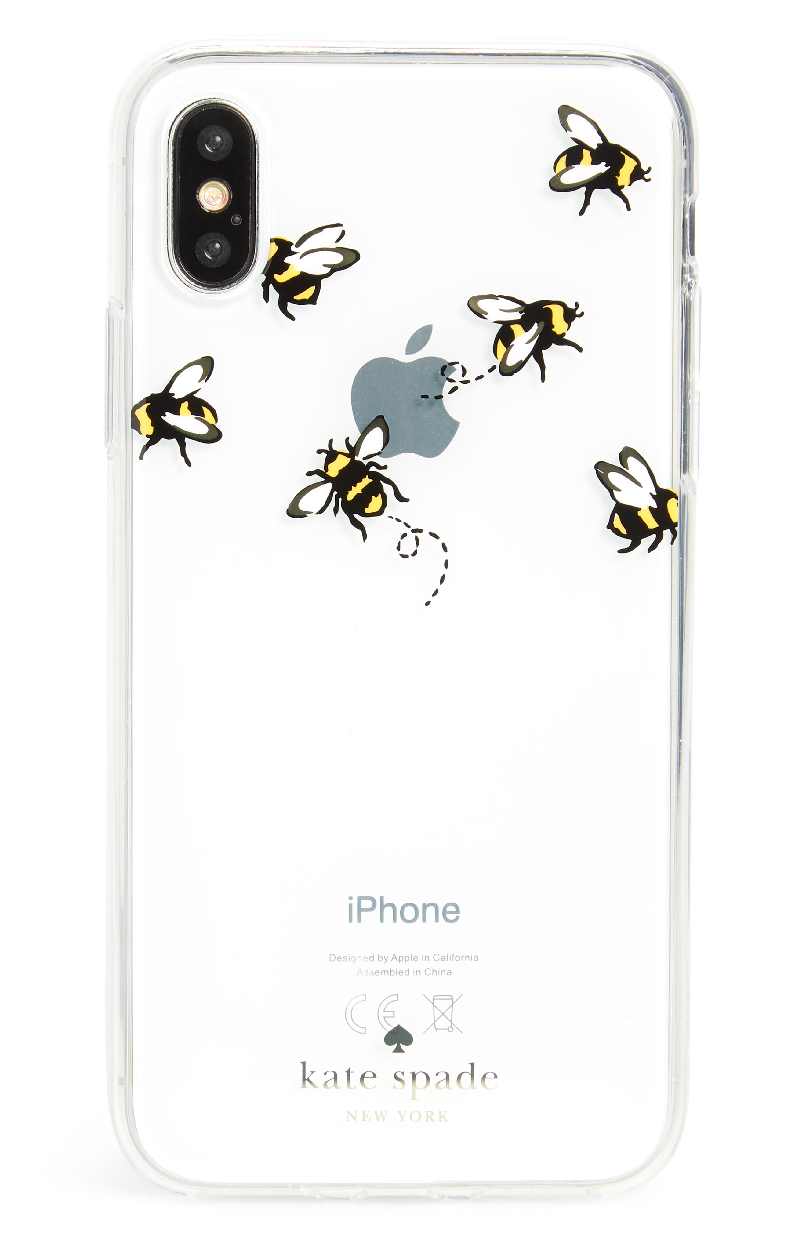 stick to it iPhone X case & sticker pocket set,                             Alternate thumbnail 3, color,                             Multi