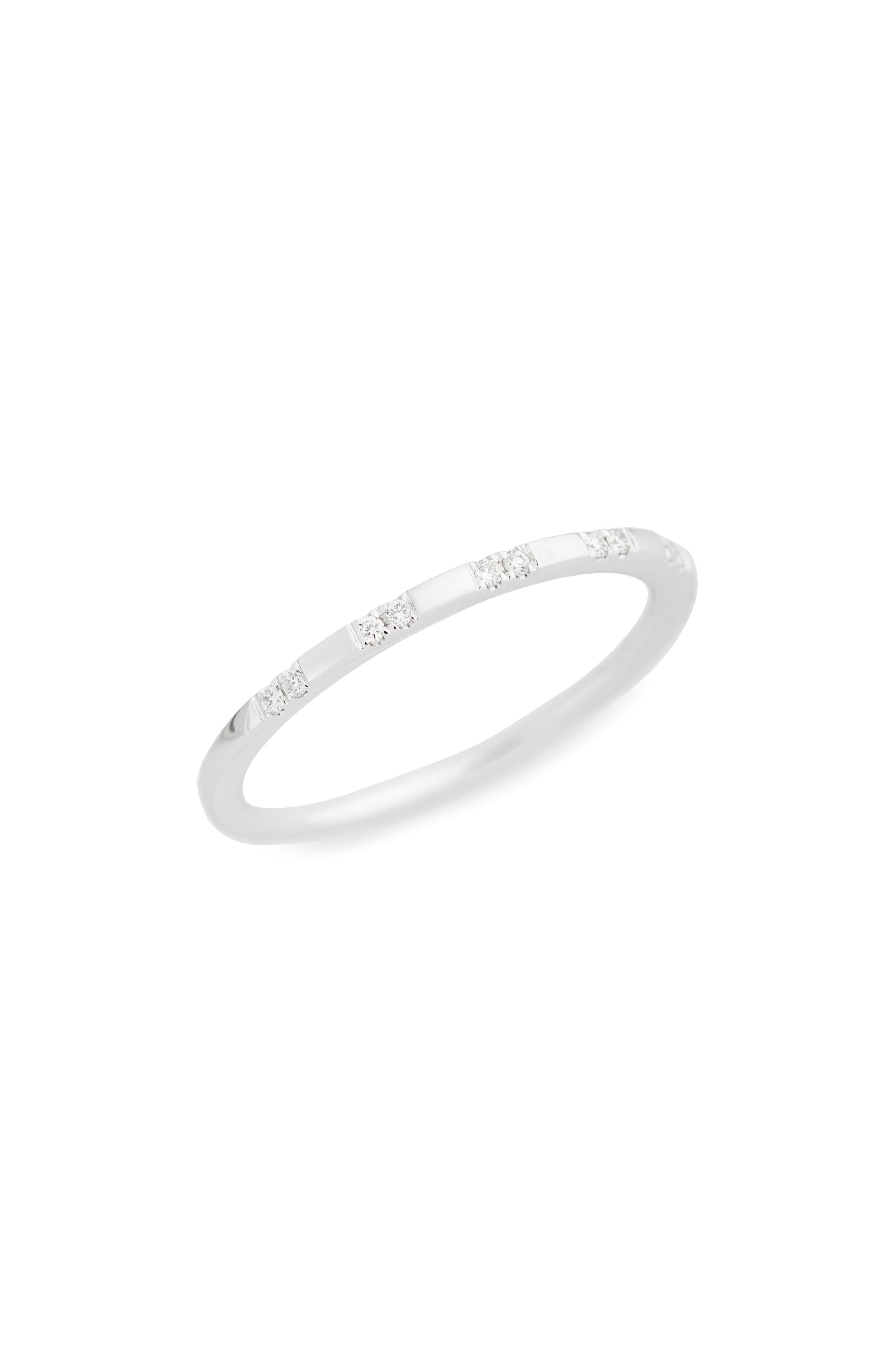 Prism Medium Stackable Diamond Ring,                         Main,                         color, White Gold