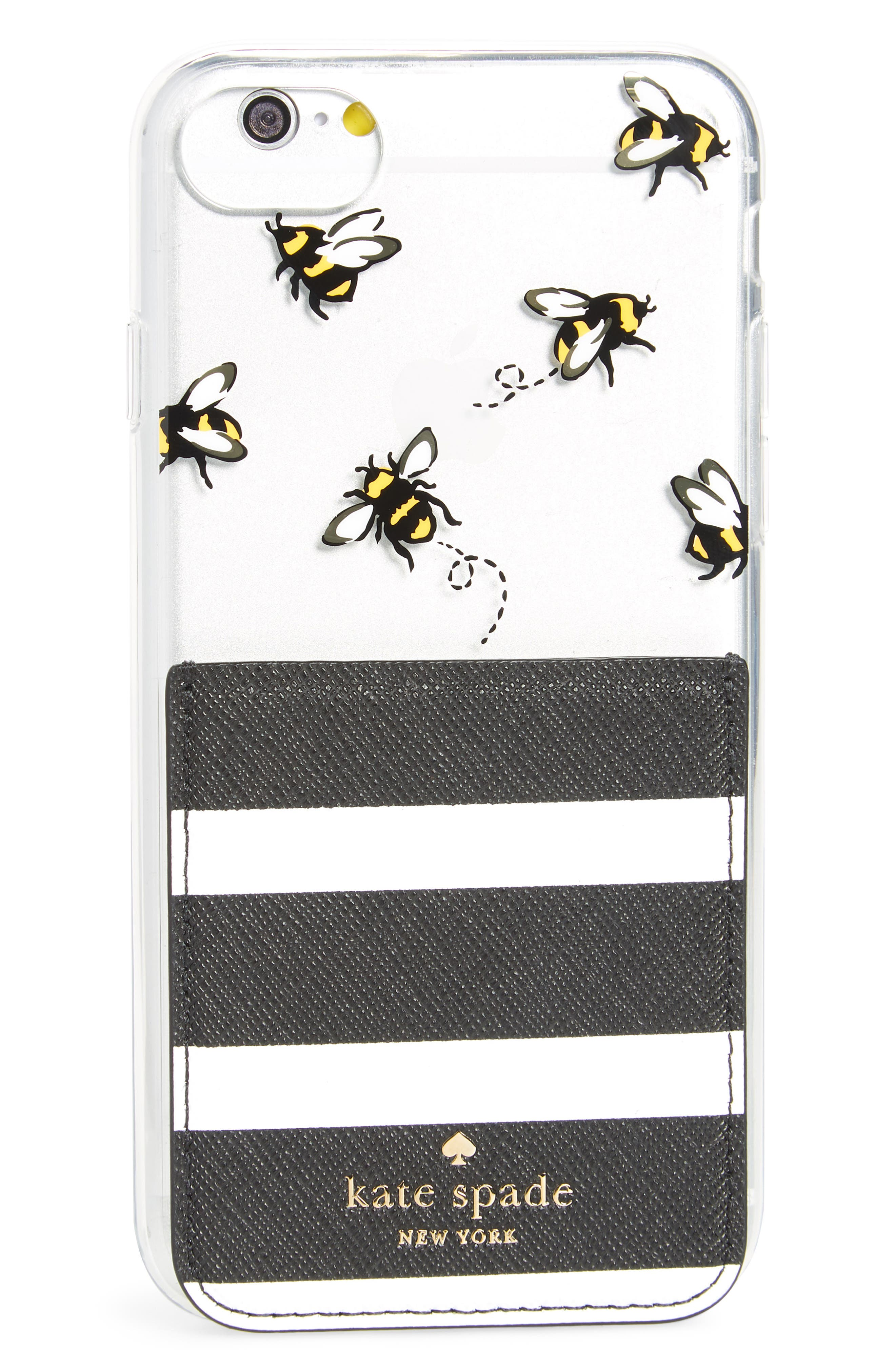 kate spade new york stick to it iPhone 7/8 & iPhone 7/8 Plus case & sticker pocket set