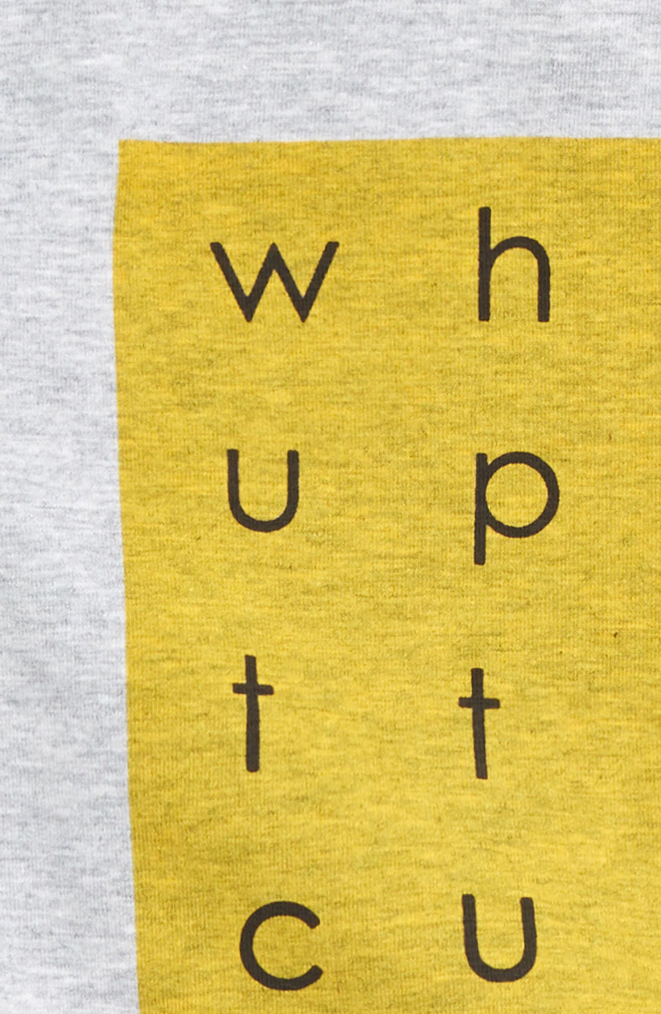 What Up Shirt & Pants Set,                             Alternate thumbnail 2, color,                             Grey/ Black