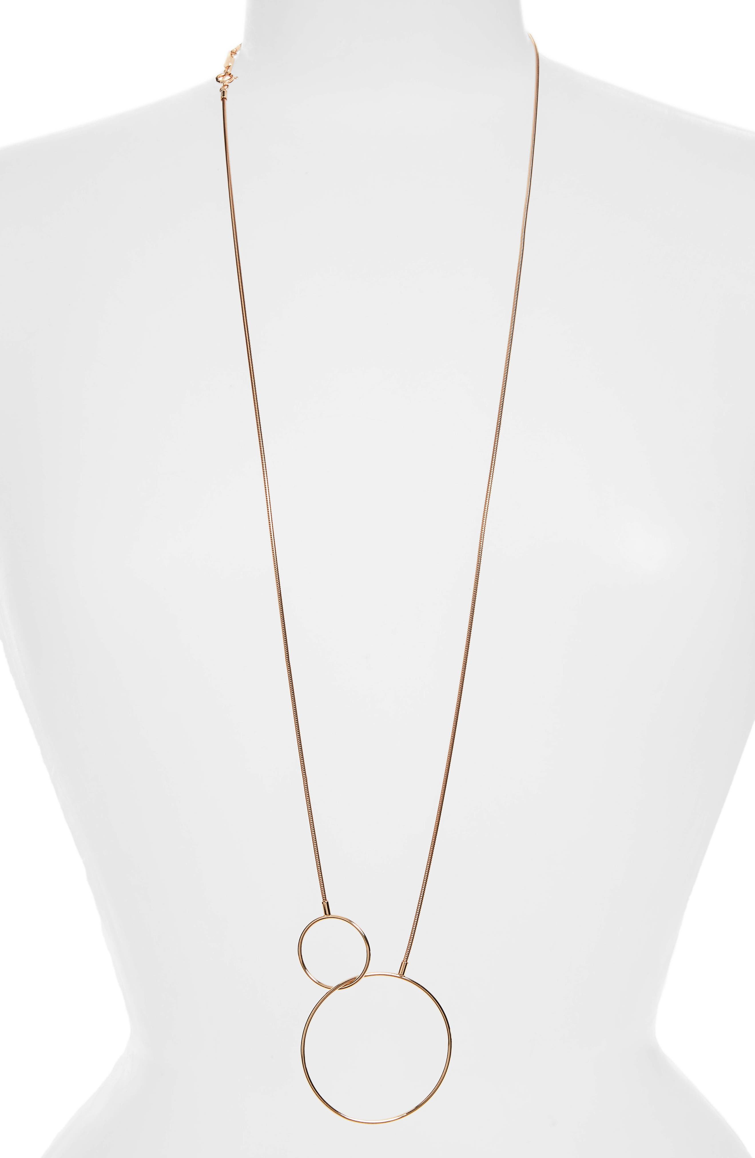 Floyd Circles Necklace,                         Main,                         color, Pink