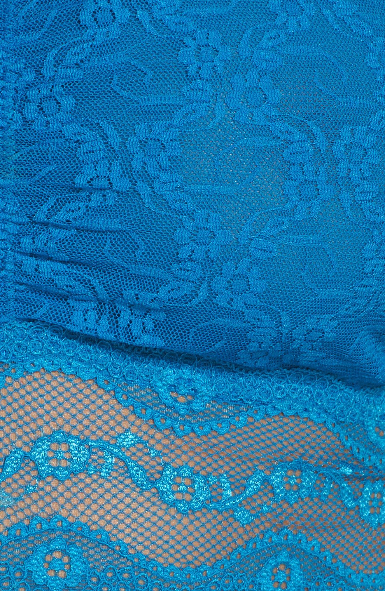 Lace Kiss Bandeau Bra,                             Alternate thumbnail 10, color,                             Mykonos Blue
