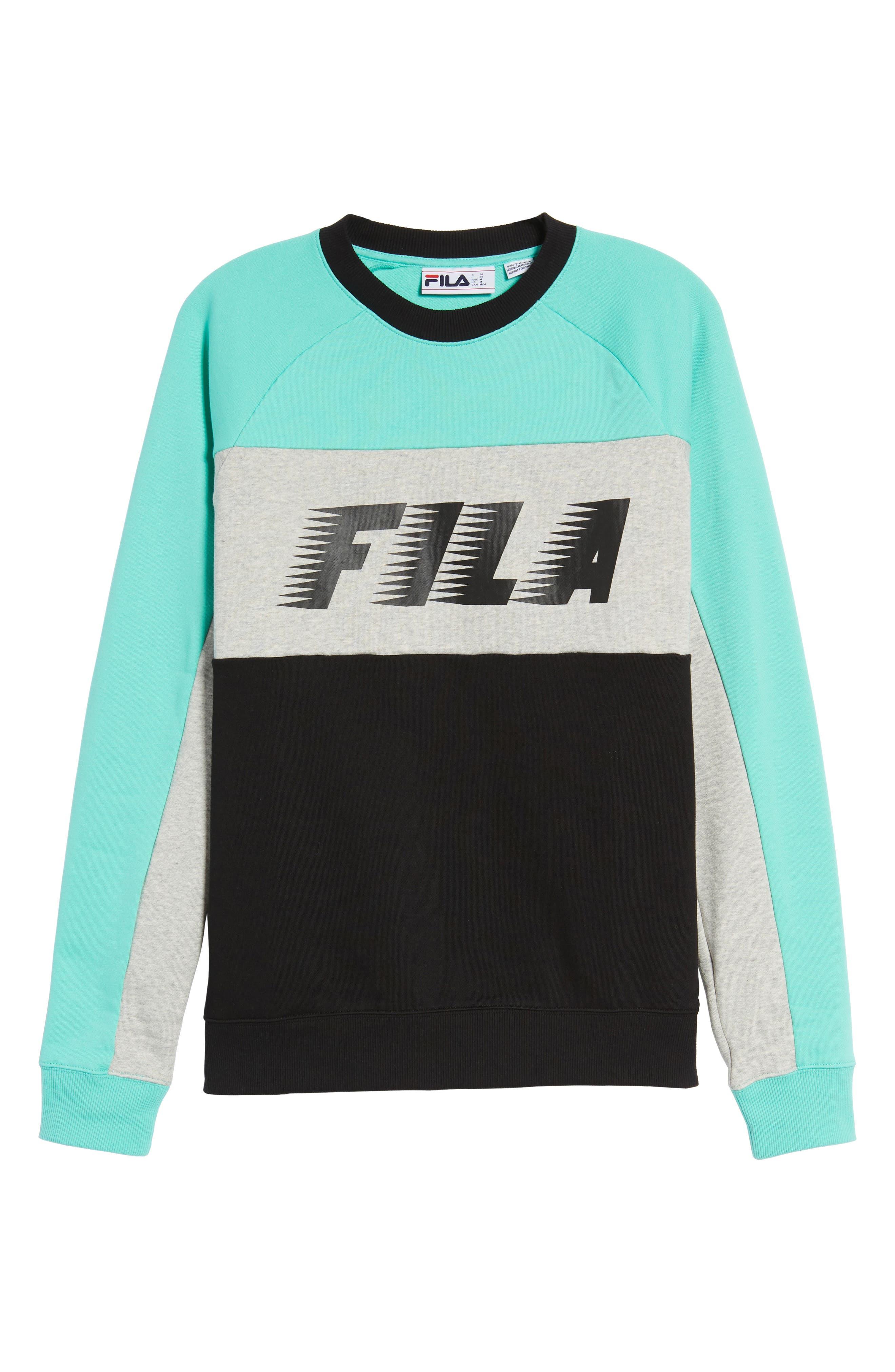 Layton Sweatshirt,                             Alternate thumbnail 6, color,                             Black/ Cockatoo/ Grey Marl