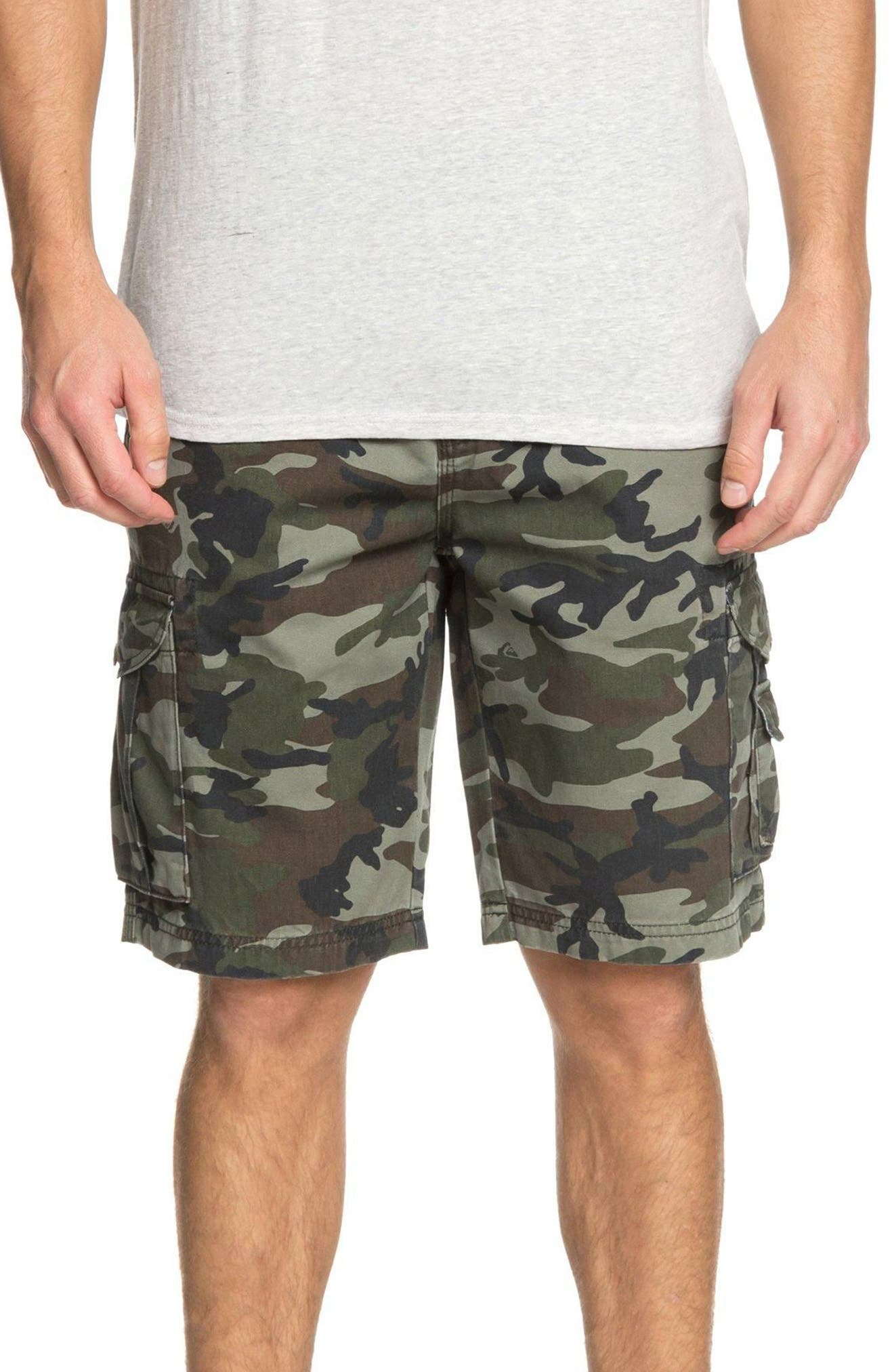 Crucial Battle Cargo Shorts,                             Main thumbnail 1, color,                             Camo Print