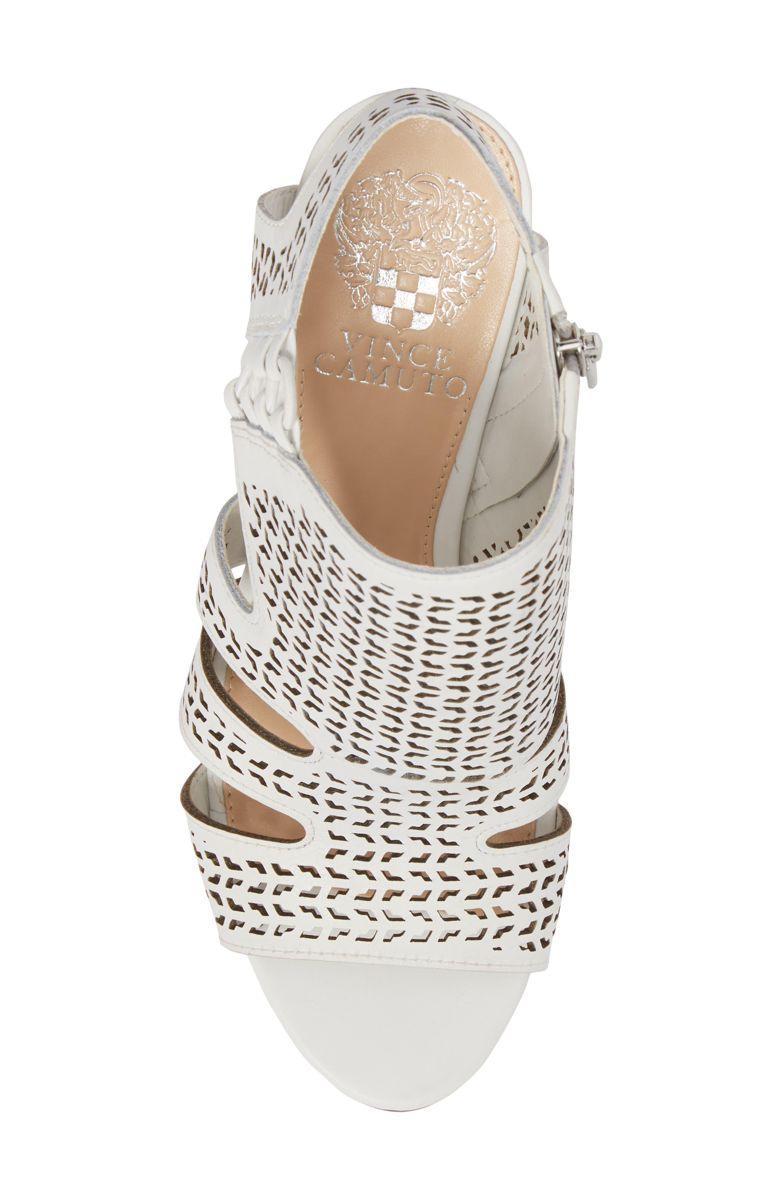 Esten Perforated Sandal,                             Alternate thumbnail 5, color,                             Pure Leather