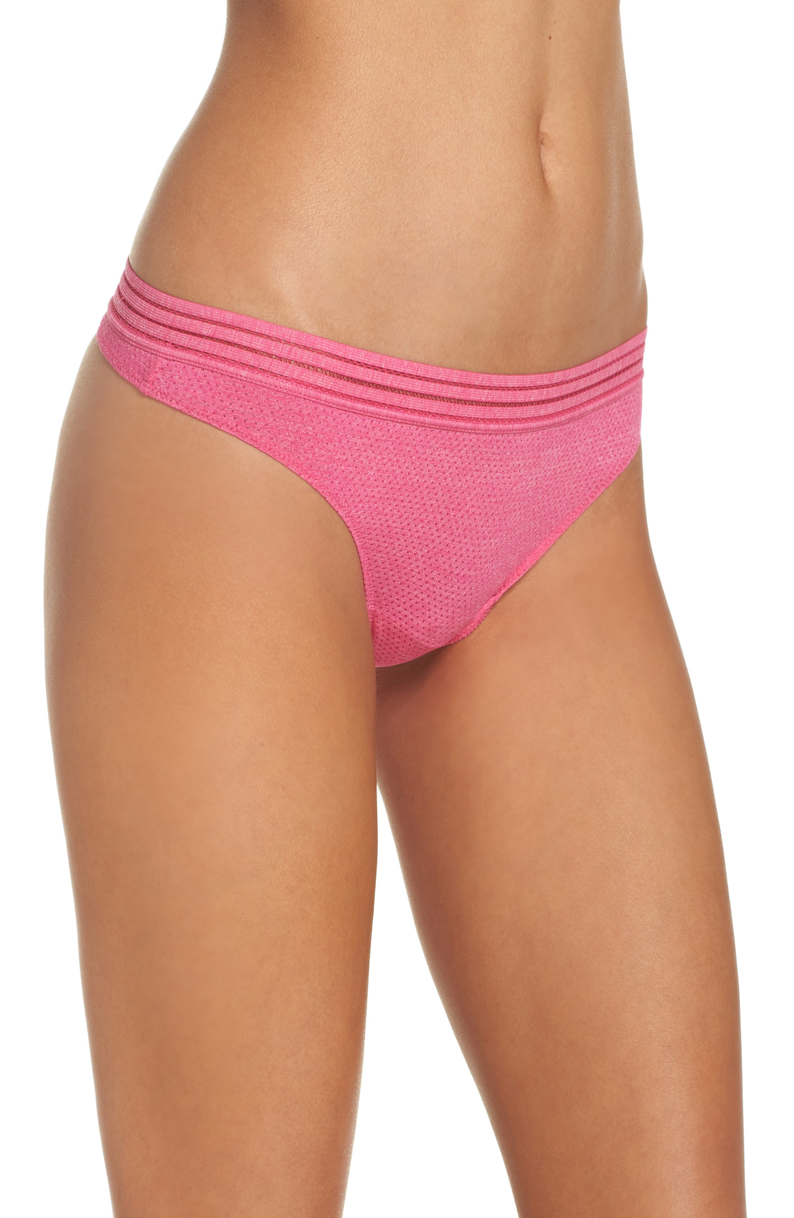 Active Thong,                             Alternate thumbnail 3, color,                             Pink Peacock