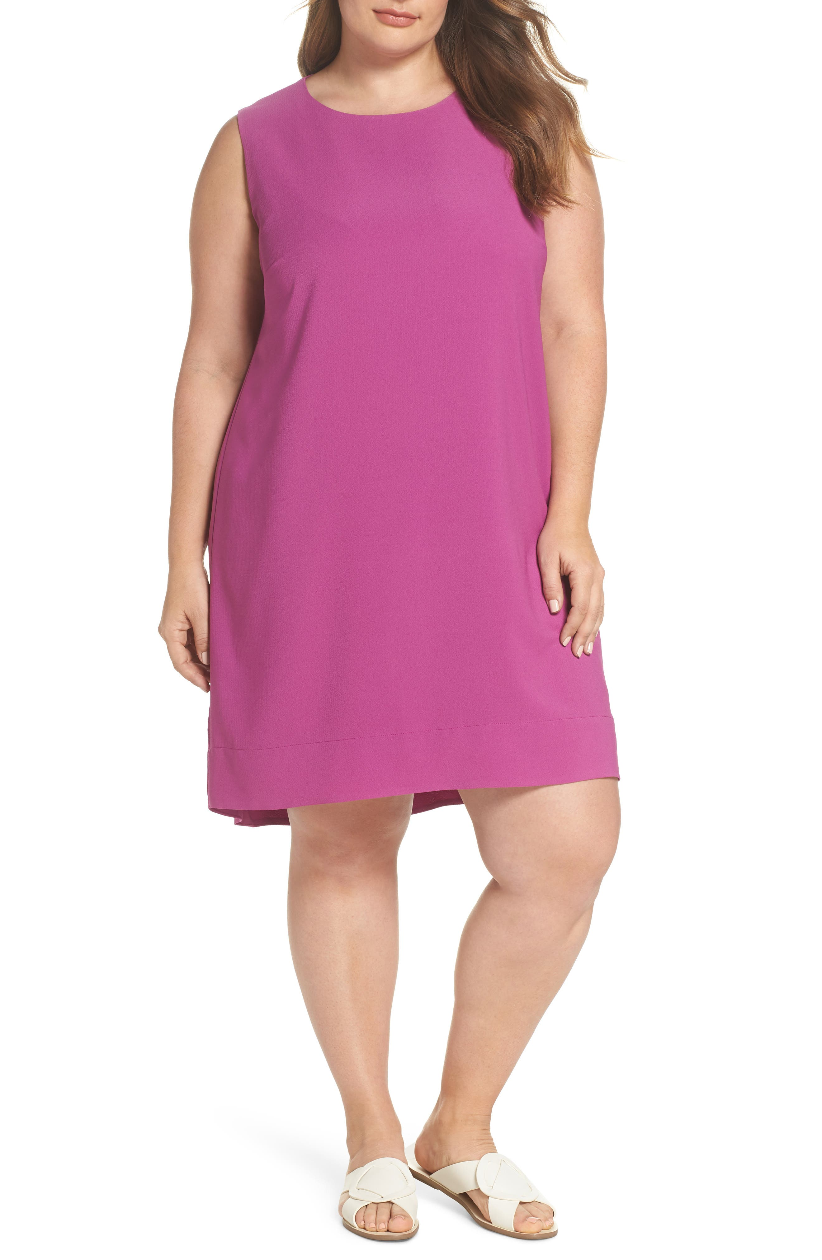 x Living in Yellow Becca Tank Dress,                         Main,                         color, Deep Violet