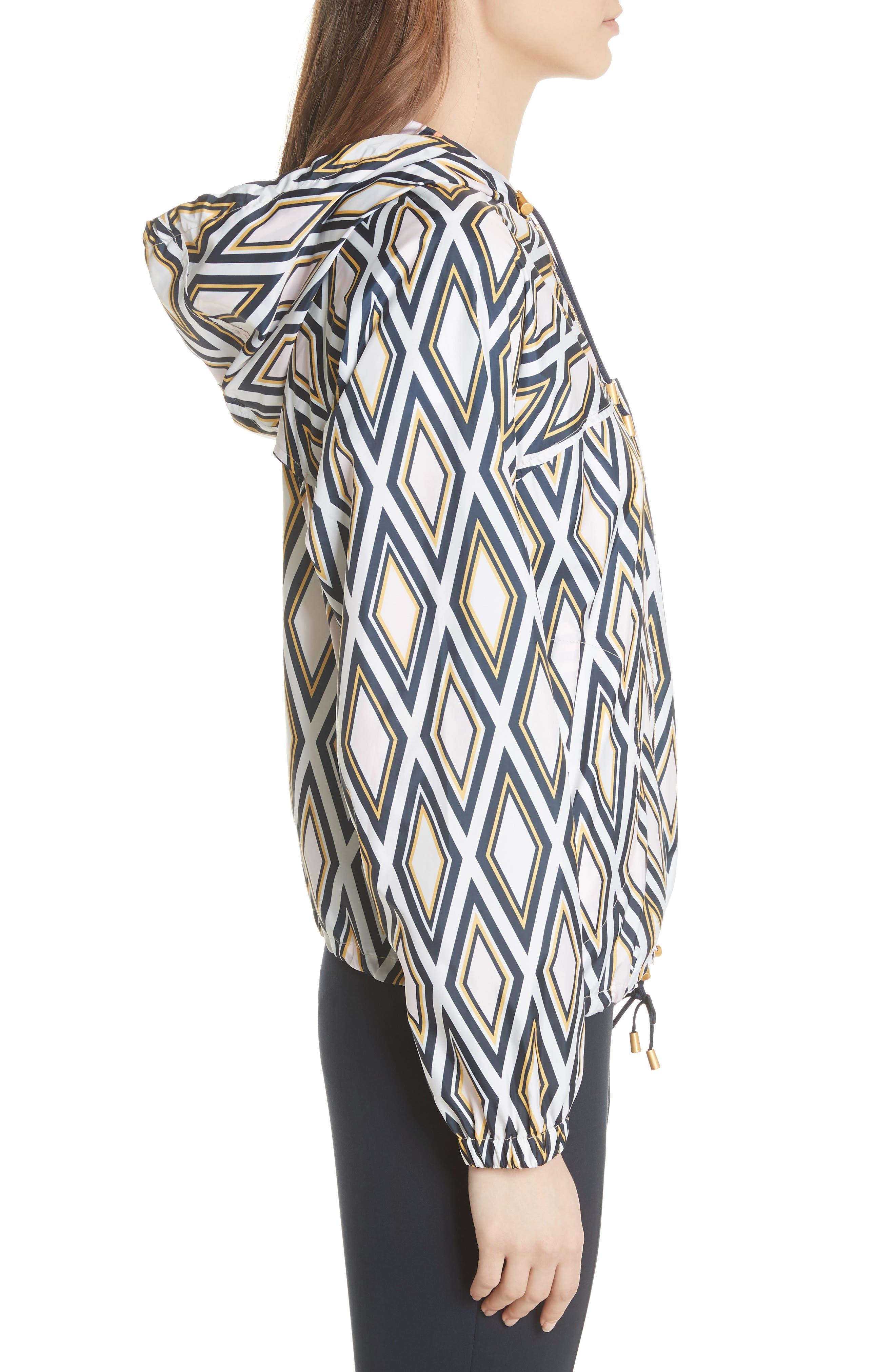 Devon Hooded Jacket,                             Alternate thumbnail 3, color,                             Solitaire Diamond
