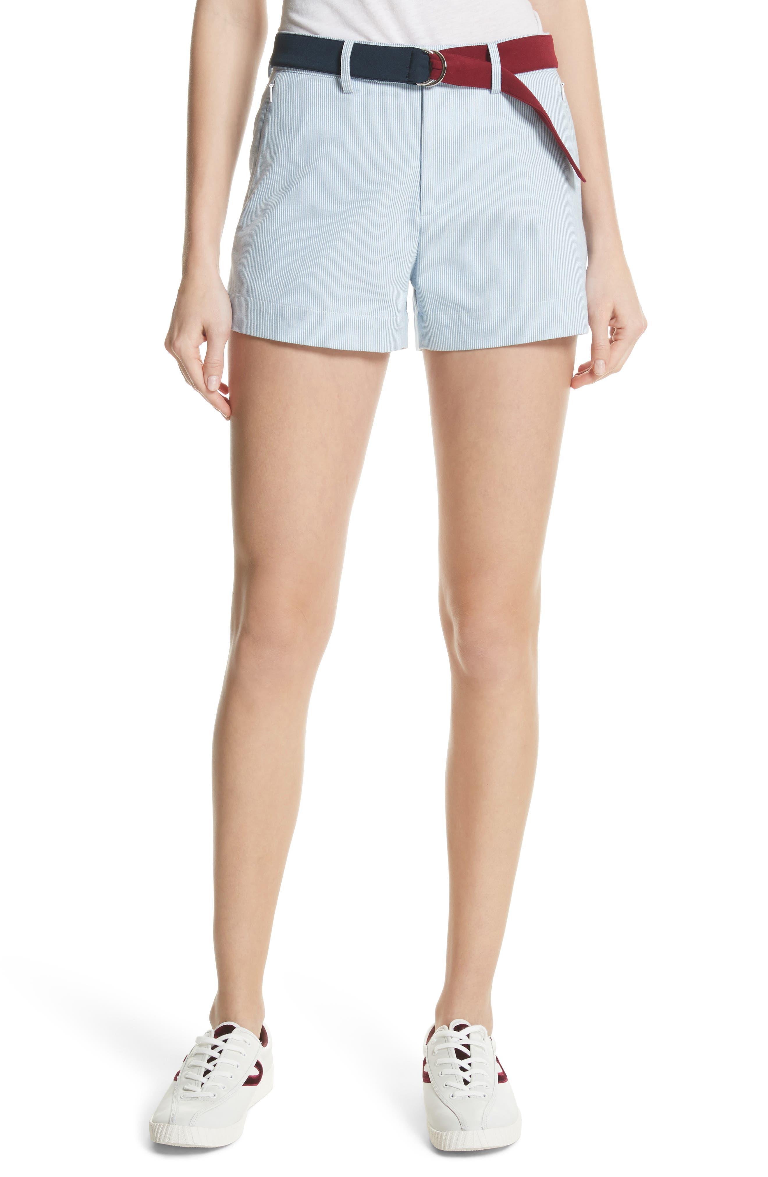 Multi Belt Shorts,                         Main,                         color, Chambray Blue