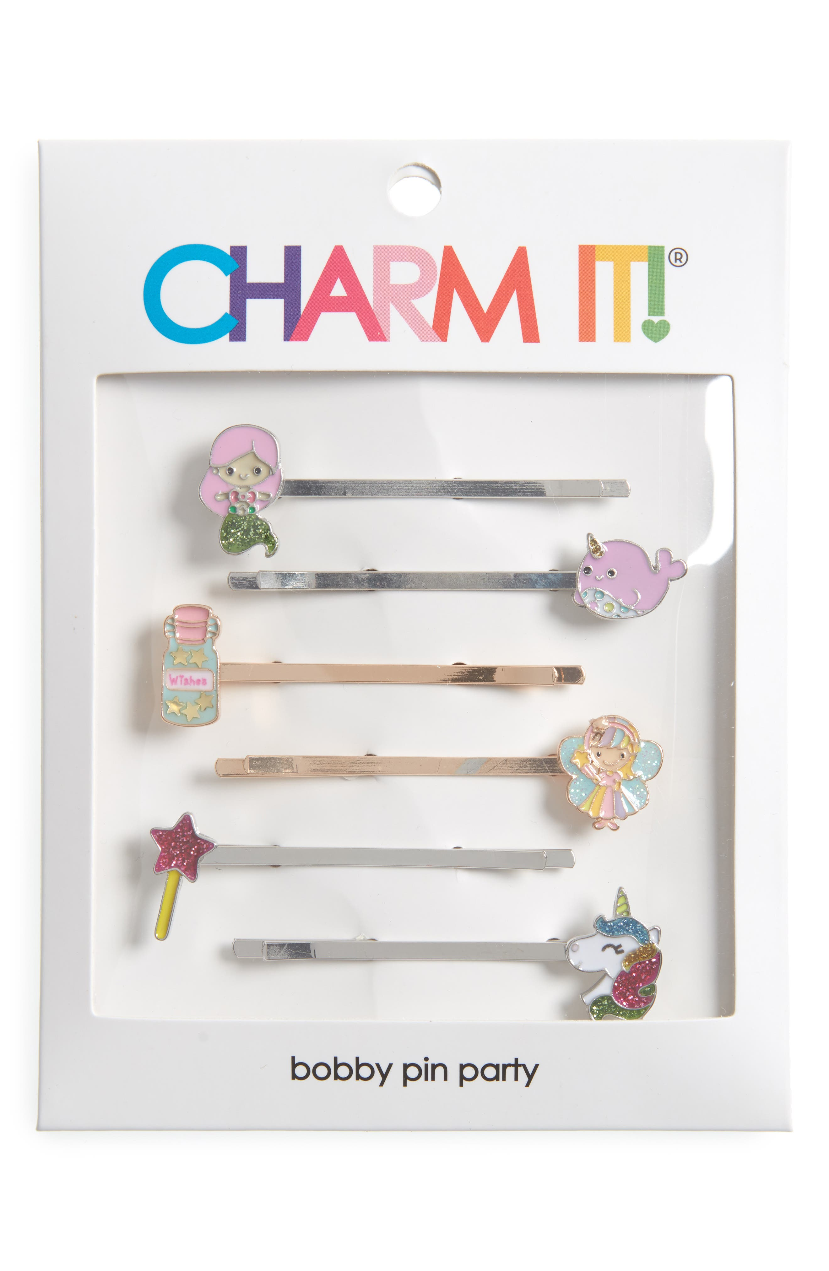 CHARM IT!<sup>®</sup> Party 6-Pack Magical Bobby Pins,                             Alternate thumbnail 3, color,                             Multi