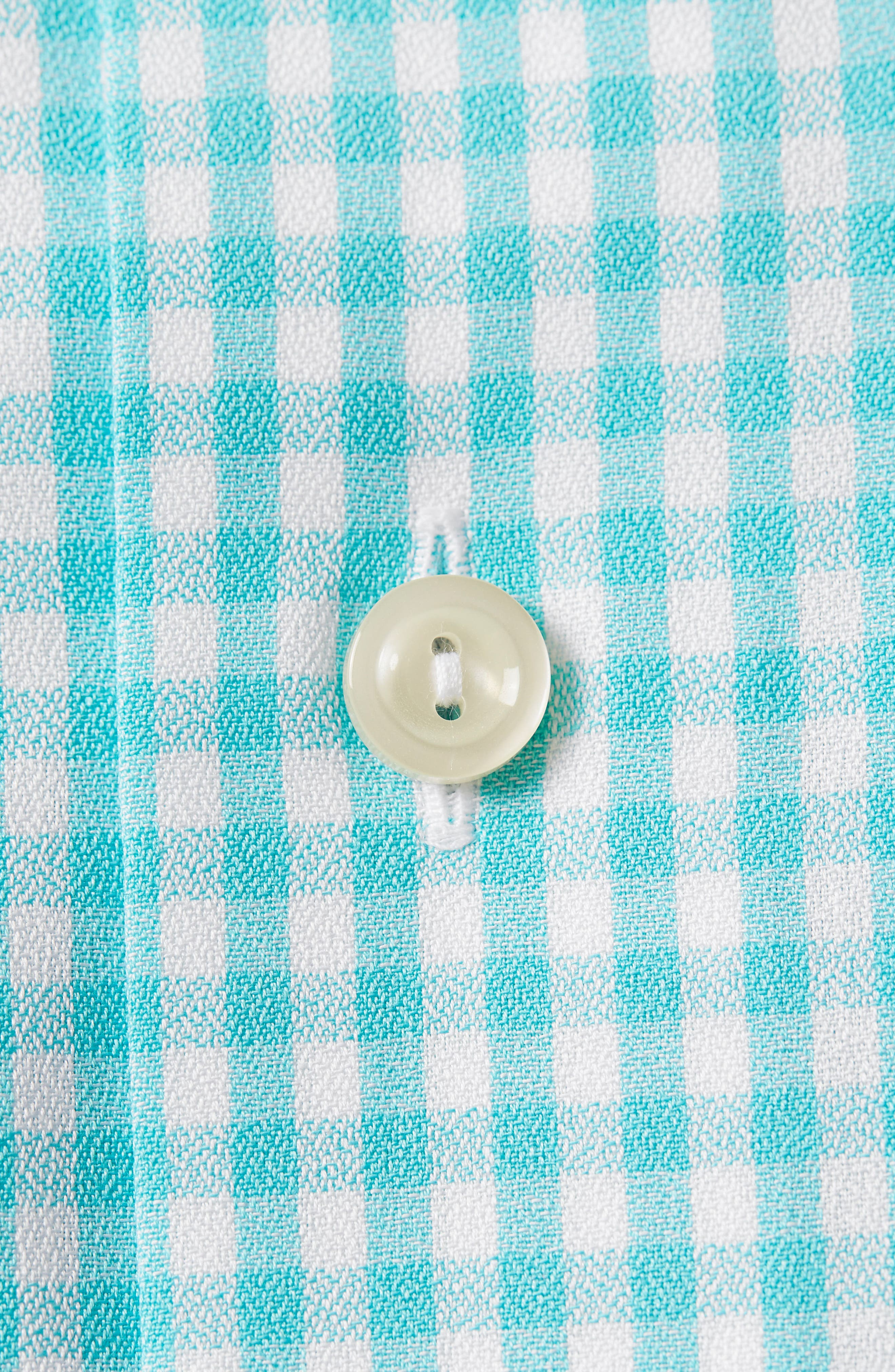Contemporary Fit Check Dress Shirt,                             Alternate thumbnail 6, color,                             Teal