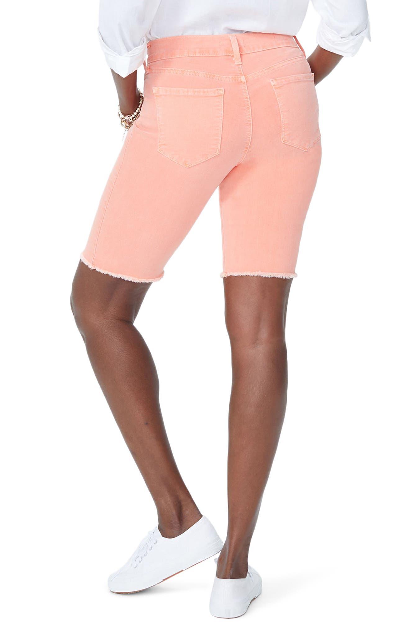 Briella Frayed Hem Bermuda Shorts,                             Alternate thumbnail 2, color,                             Pale Desert Flower