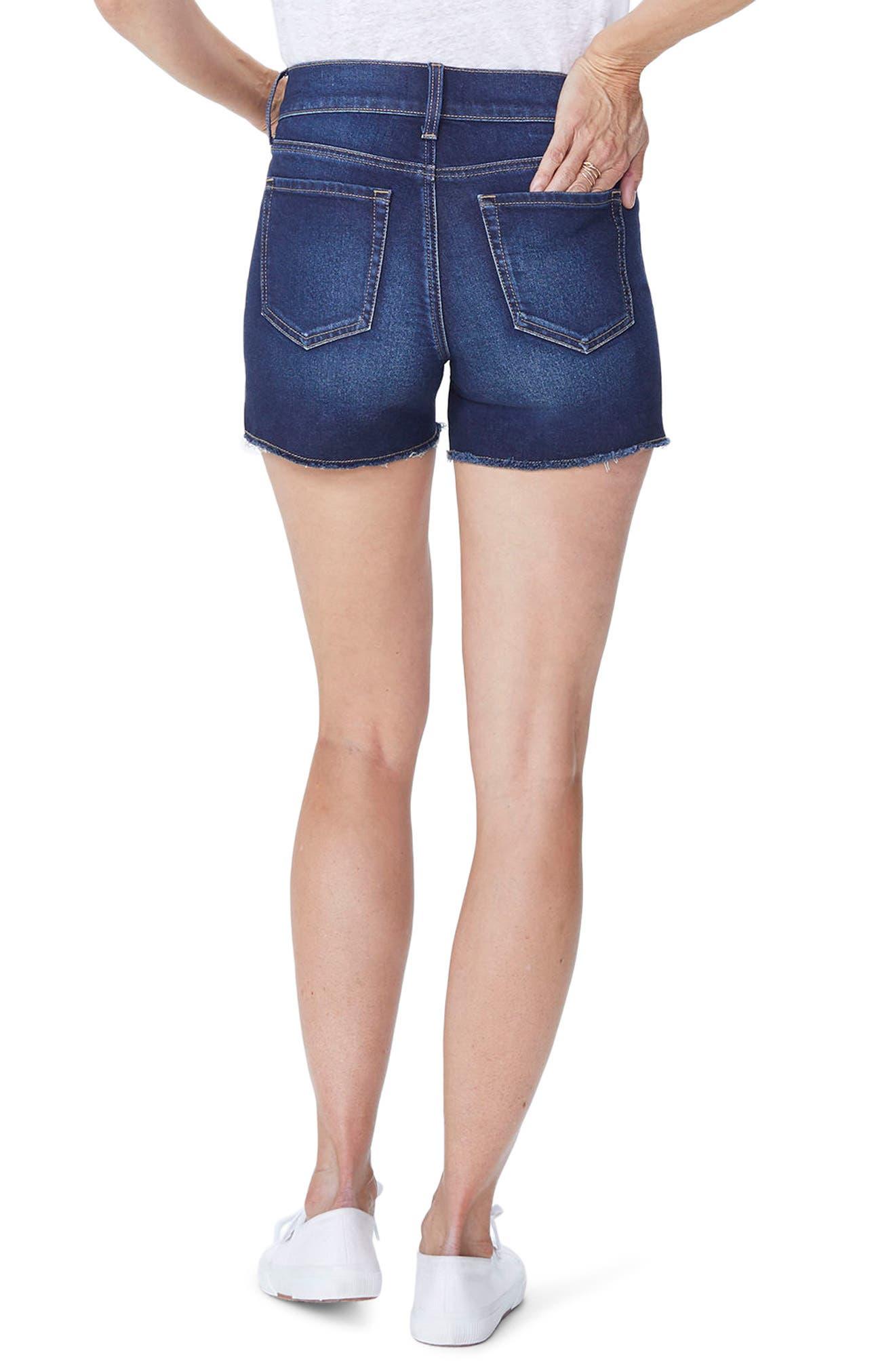 Side Slit Denim Shorts,                             Alternate thumbnail 2, color,                             Seabrook