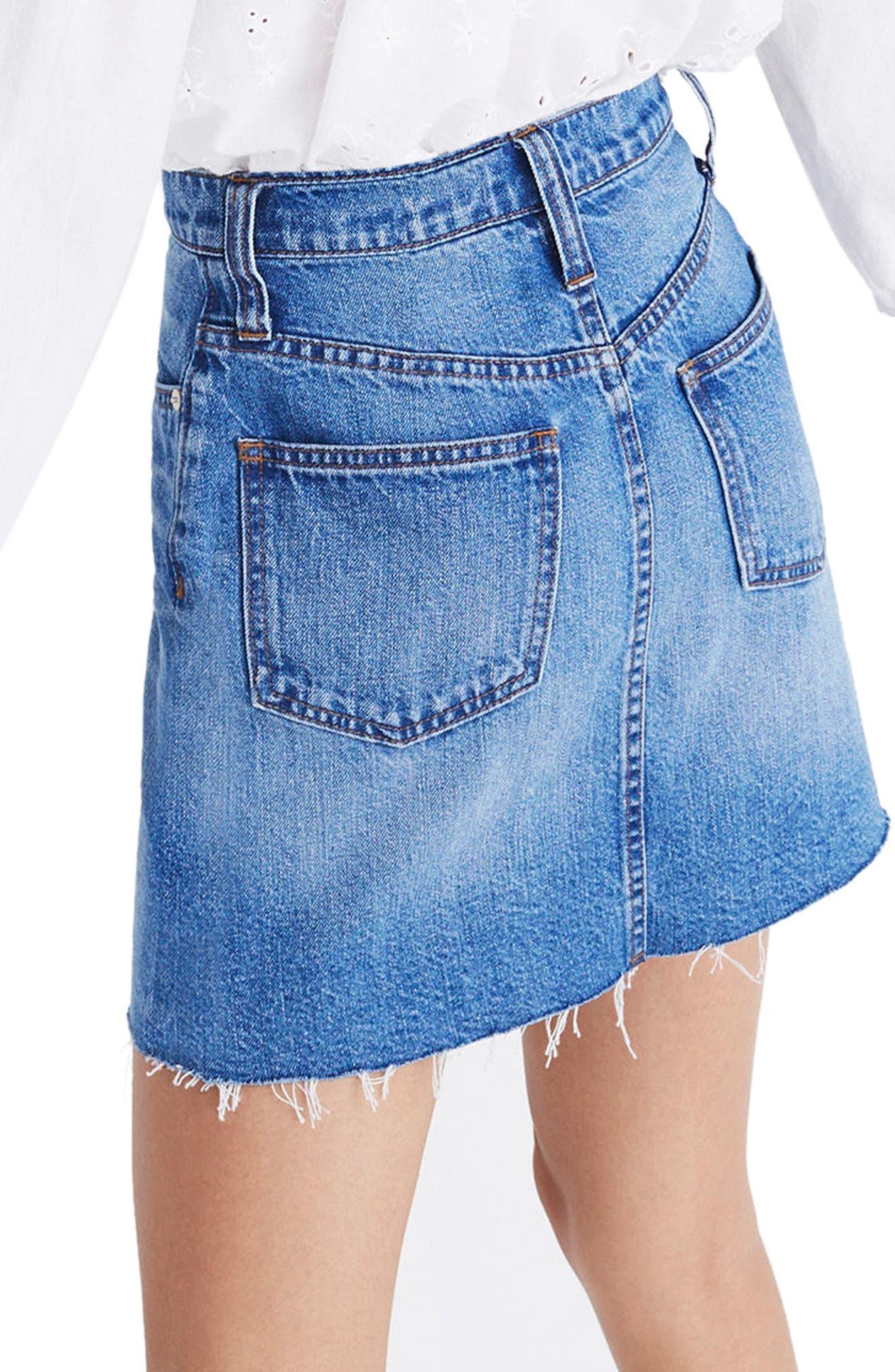 Frisco Denim Miniskirt,                             Alternate thumbnail 3, color,                             Leandra Wash