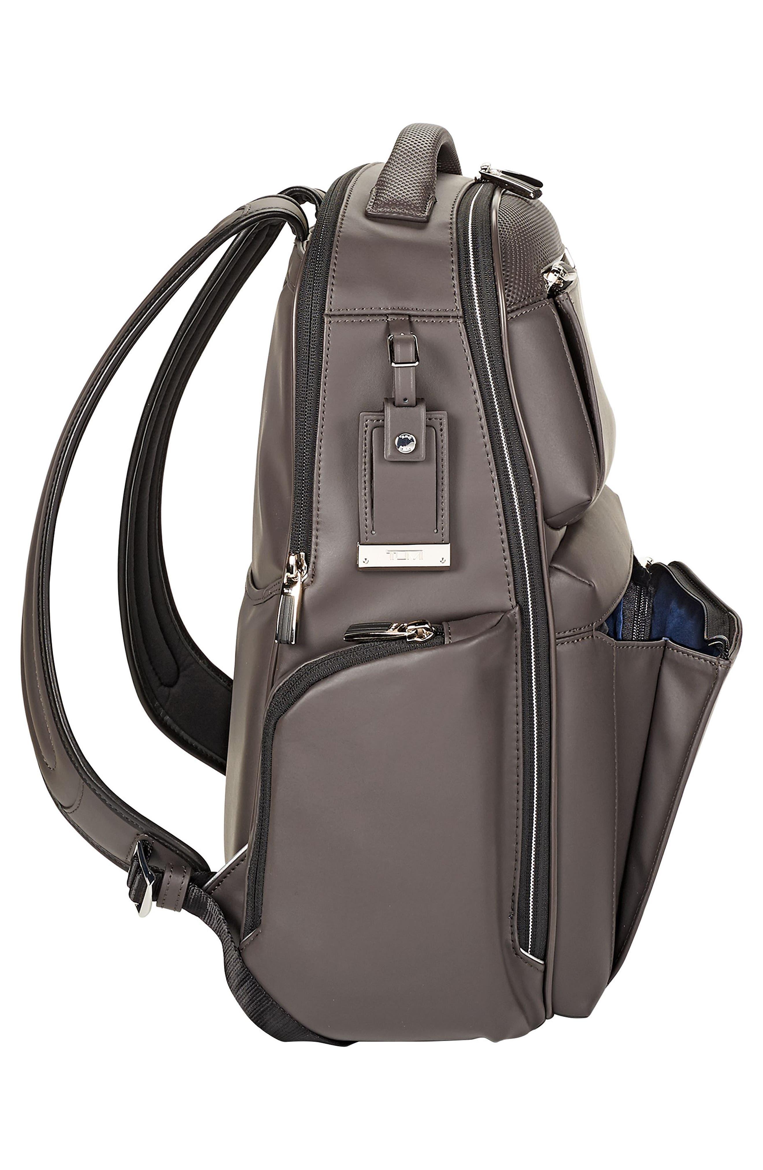 Arrivé - Bradley Leather Backpack,                             Alternate thumbnail 5, color,                             Taupe