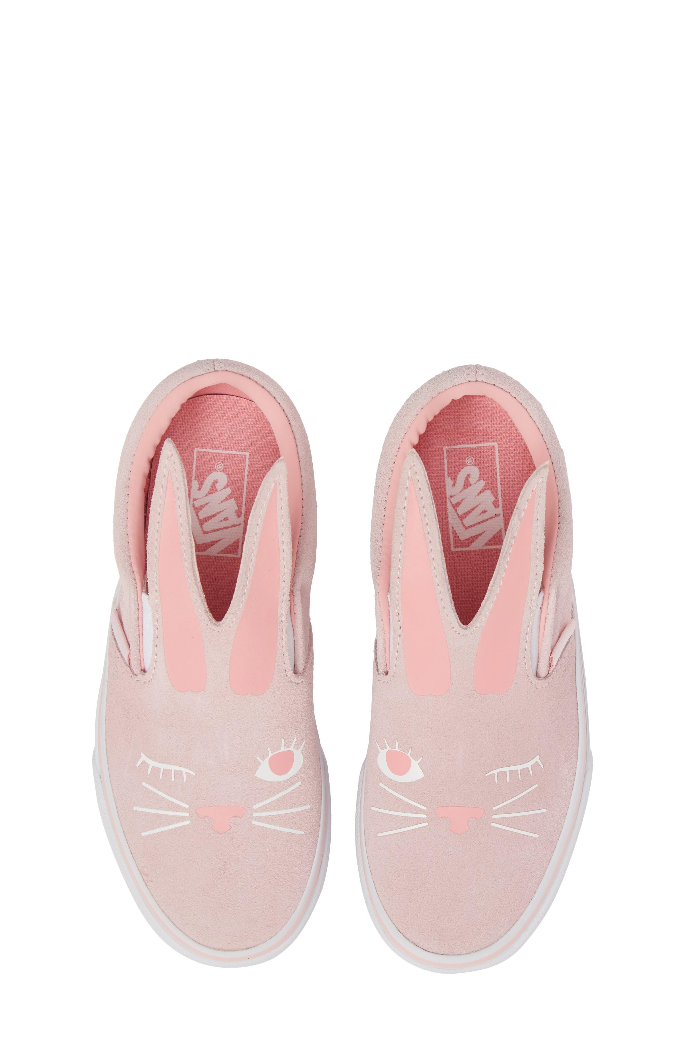Slip-On Bunny Sneaker,                             Main thumbnail 1, color,                             Chalk Pink/ True White