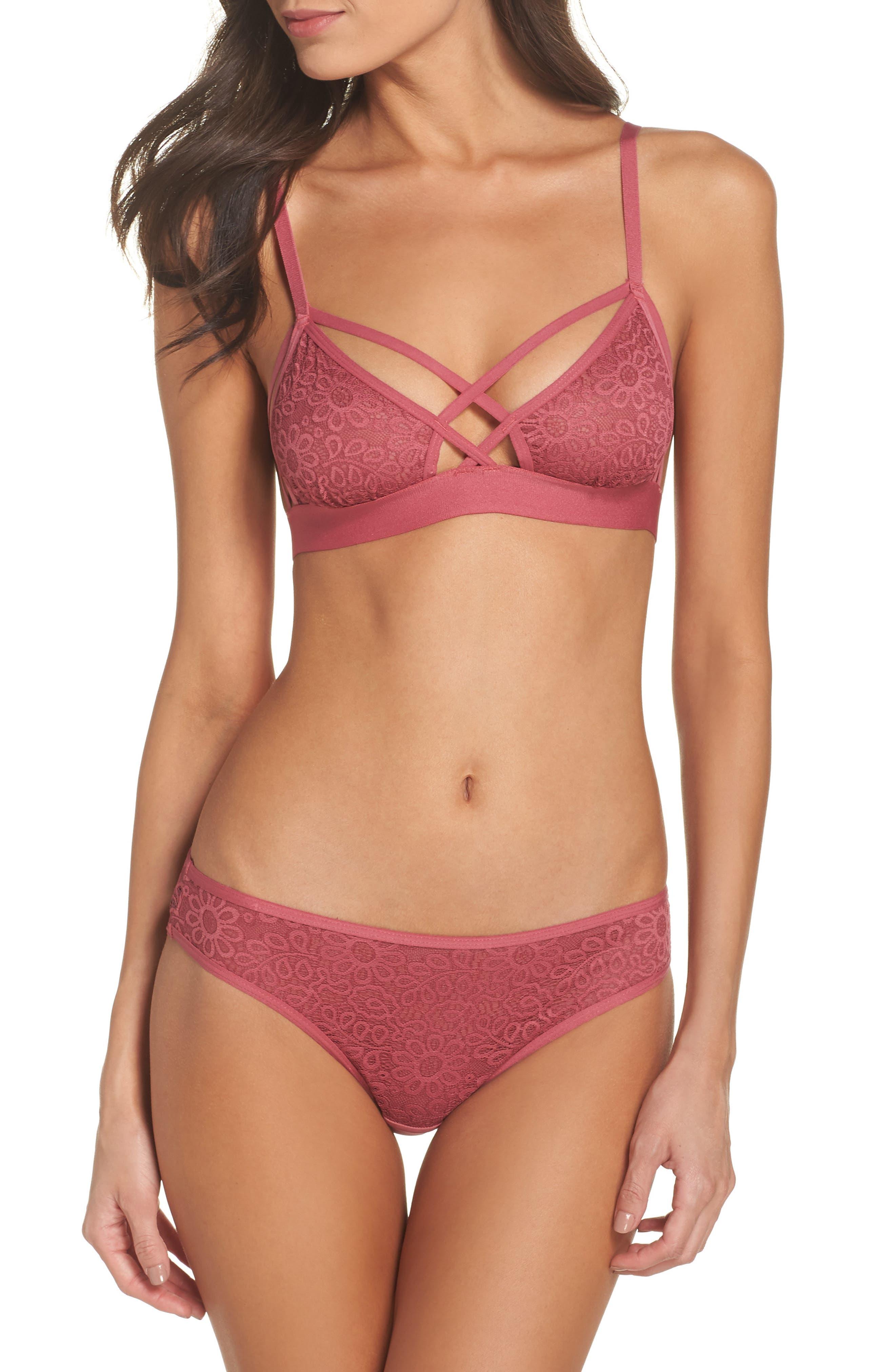 Lace Bikini,                             Alternate thumbnail 5, color,                             Rose Wine