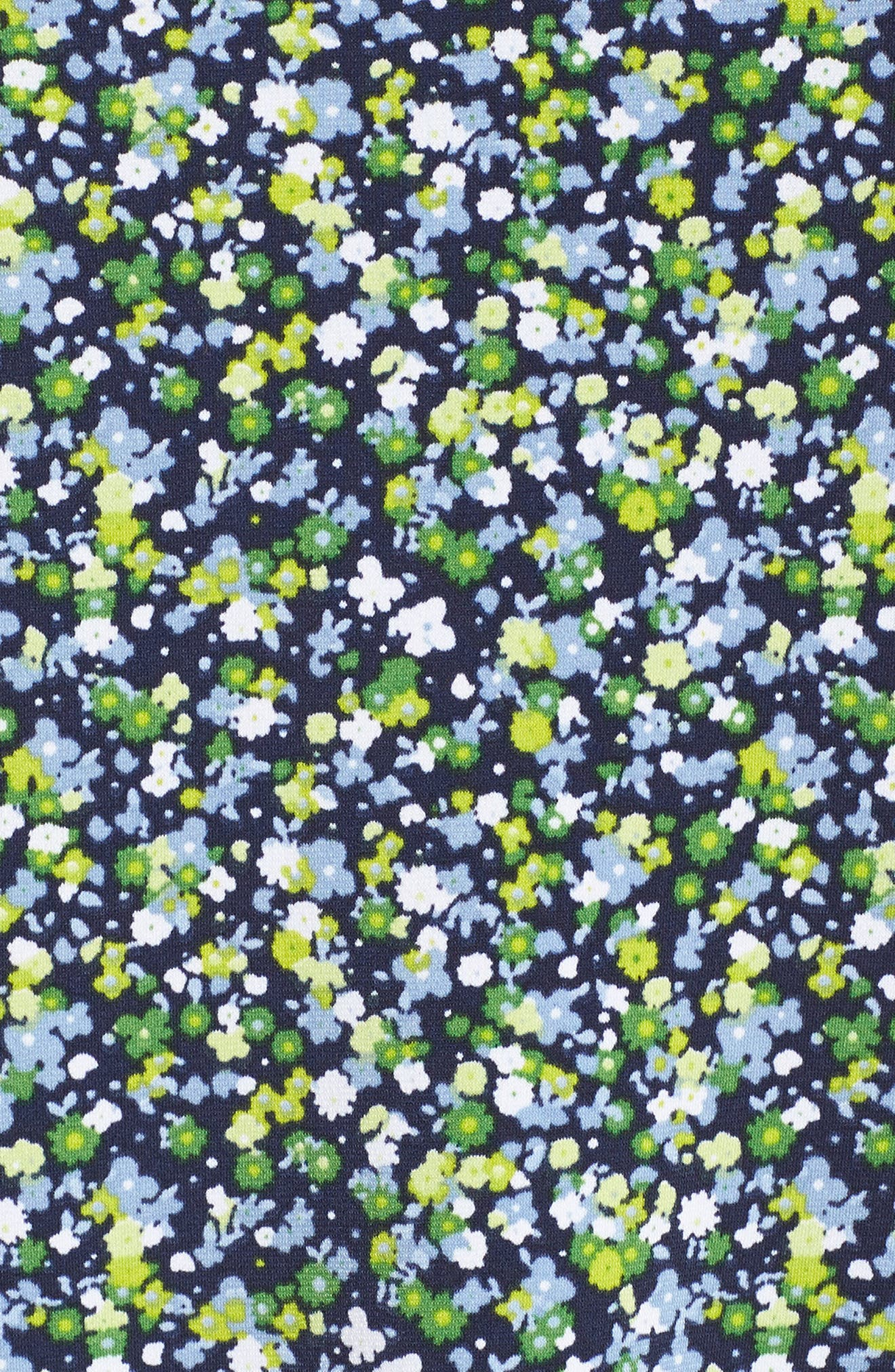 Wildflower Flounce Cold Shoulder Top,                             Alternate thumbnail 6, color,                             True Navy/ Green Apple Mu
