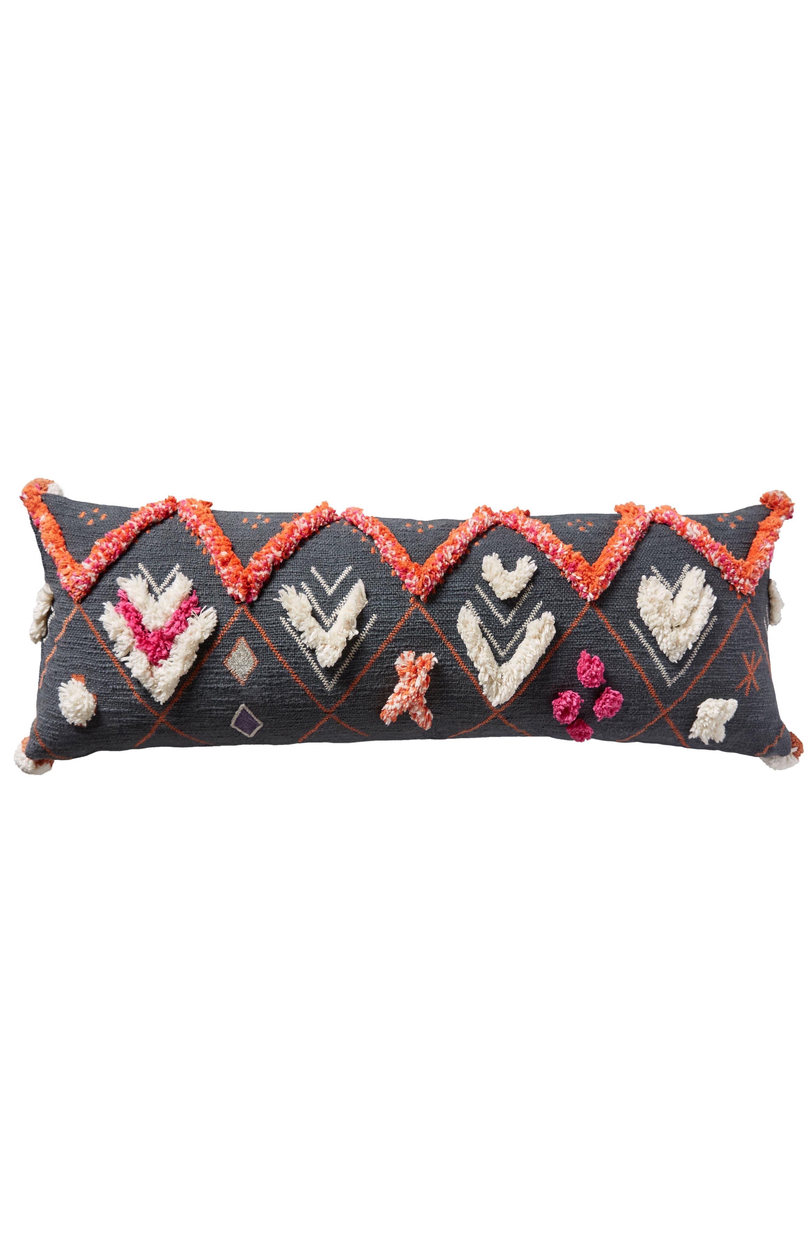 Heradia Accent Pillow,                             Alternate thumbnail 5, color,                             Dark Grey