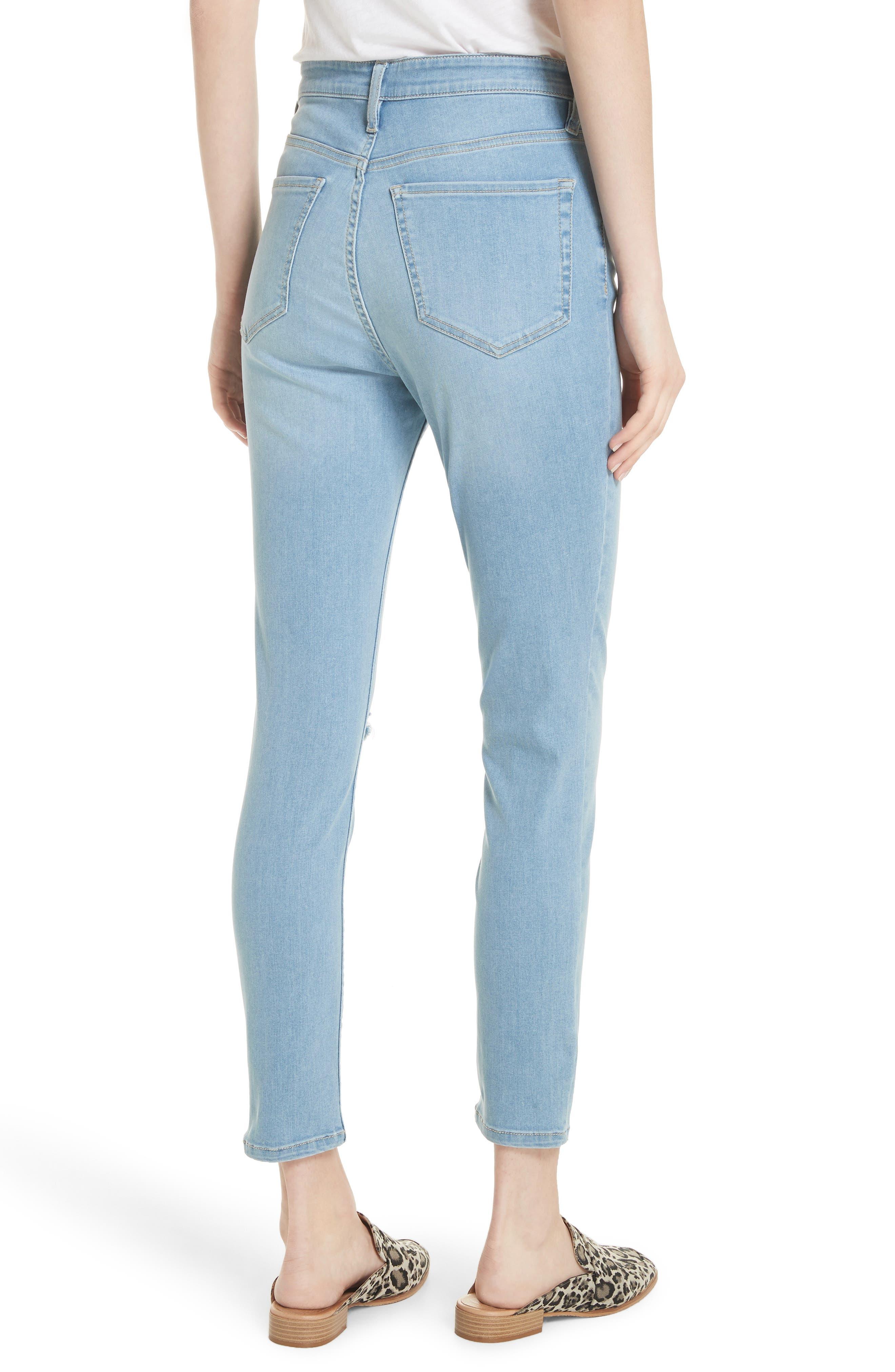 Mara Skinny Jeans,                             Alternate thumbnail 2, color,                             Blue