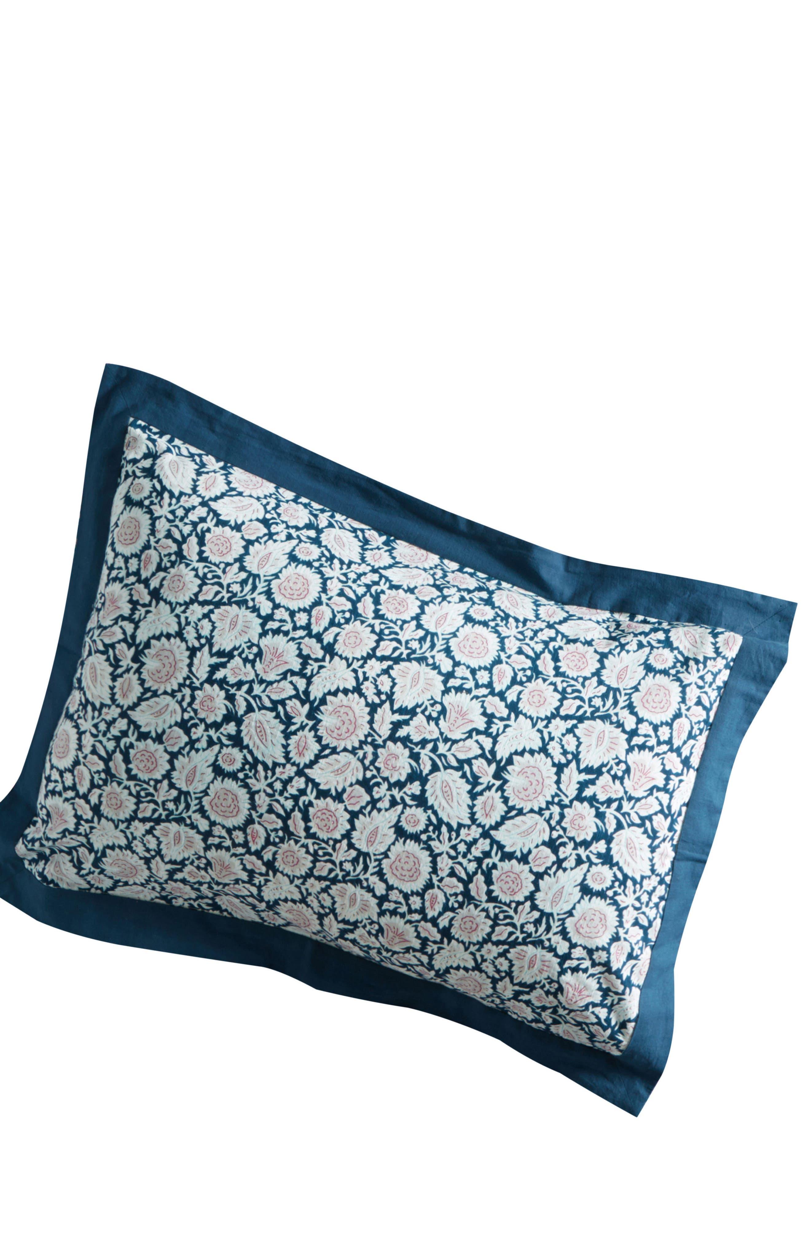 Meze Pillow Shams,                             Alternate thumbnail 2, color,                             Blue Combo