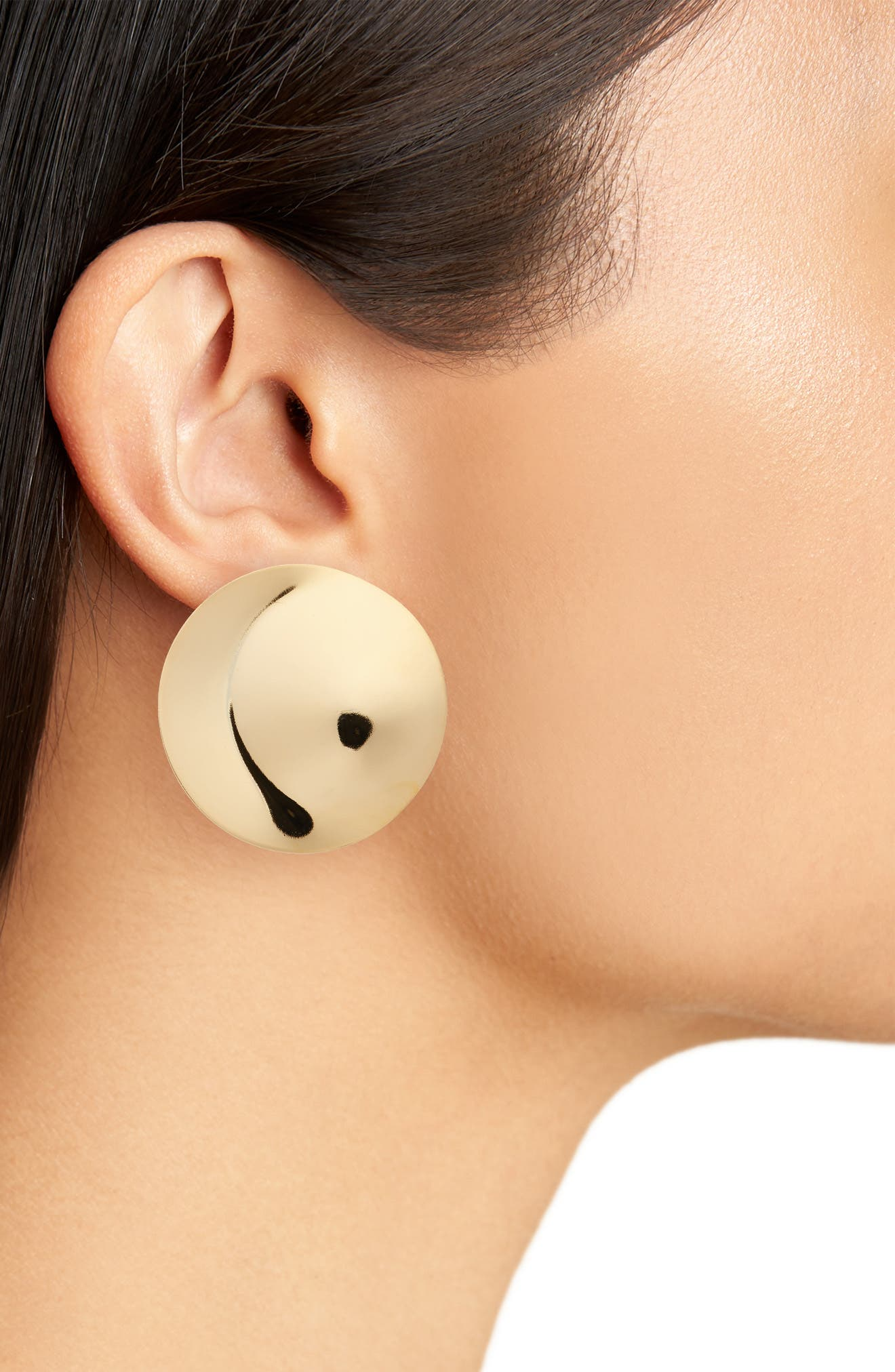 Penny Moon Stud Earrings,                             Alternate thumbnail 2, color,                             Gold