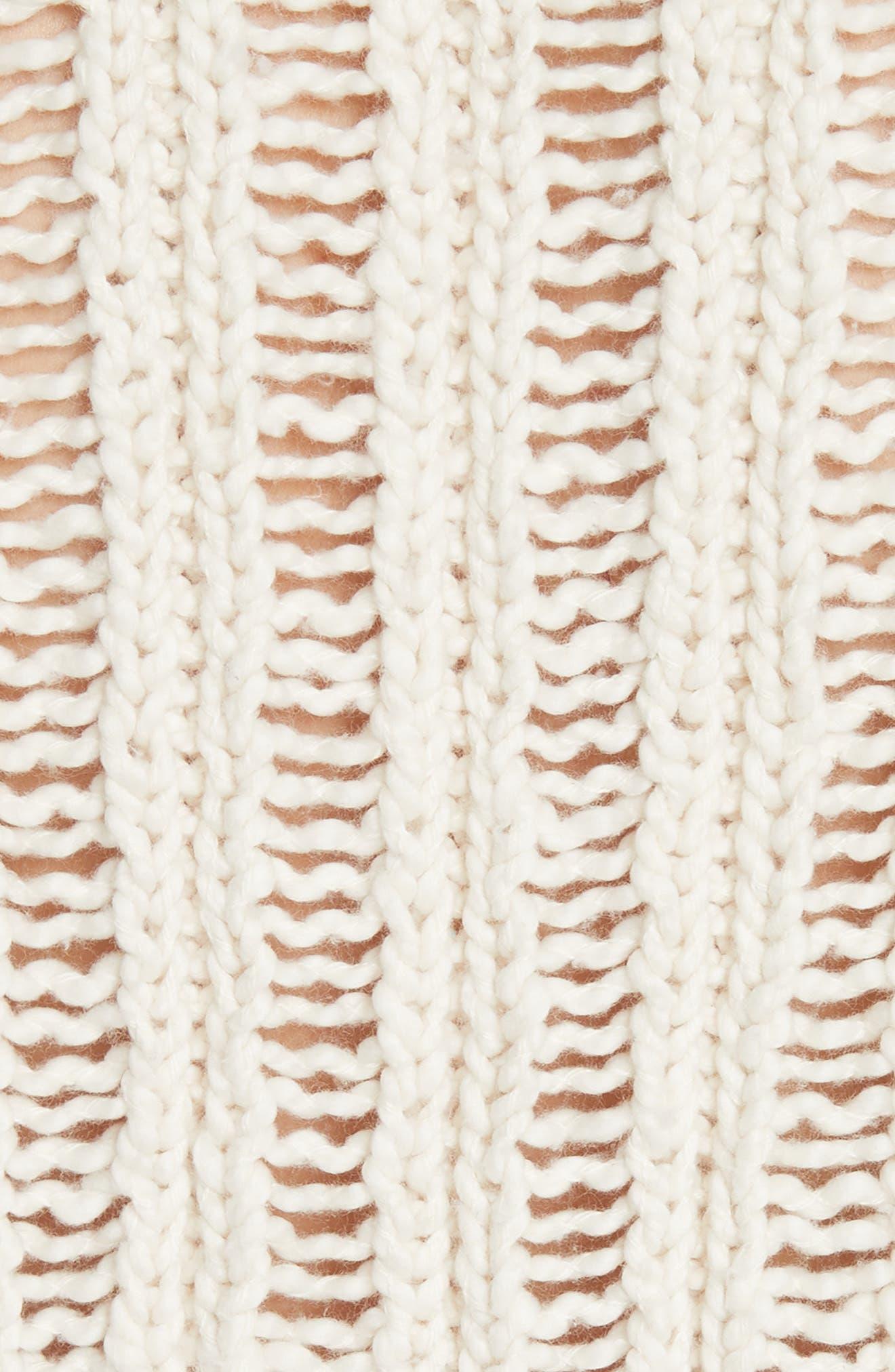 Infinite V-Neck Sweater,                             Alternate thumbnail 5, color,                             Ivory